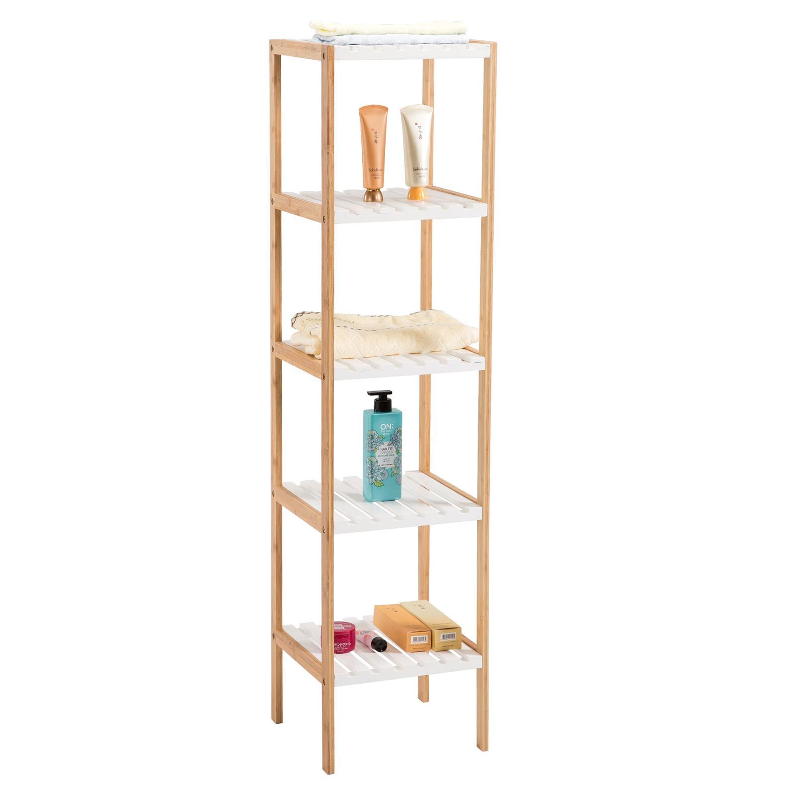 etag re de salle de bain sur pied blaine 5 tablettes en bambou mobil meubles. Black Bedroom Furniture Sets. Home Design Ideas