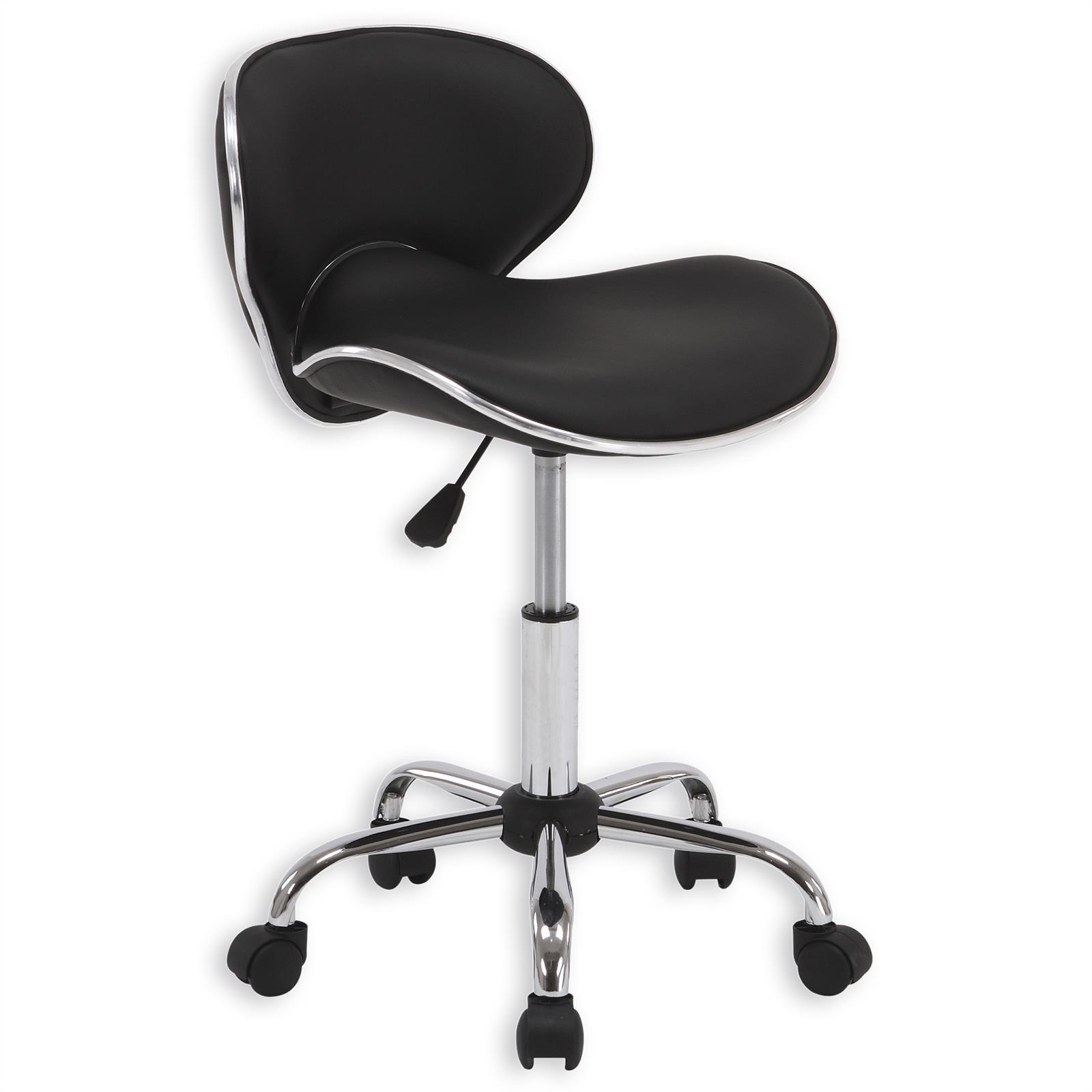 Chaise de bureau sur roulettes gunnar noir mobil meubles - Chaise de bureau noir ...
