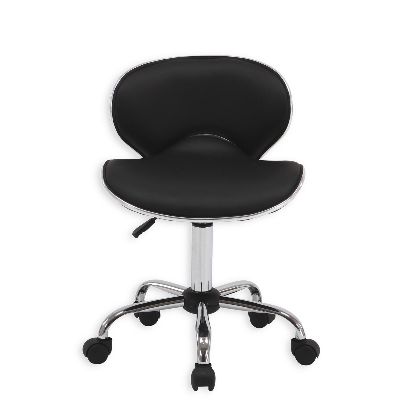 chaise de bureau sur roulettes gunnar noir mobil meubles. Black Bedroom Furniture Sets. Home Design Ideas