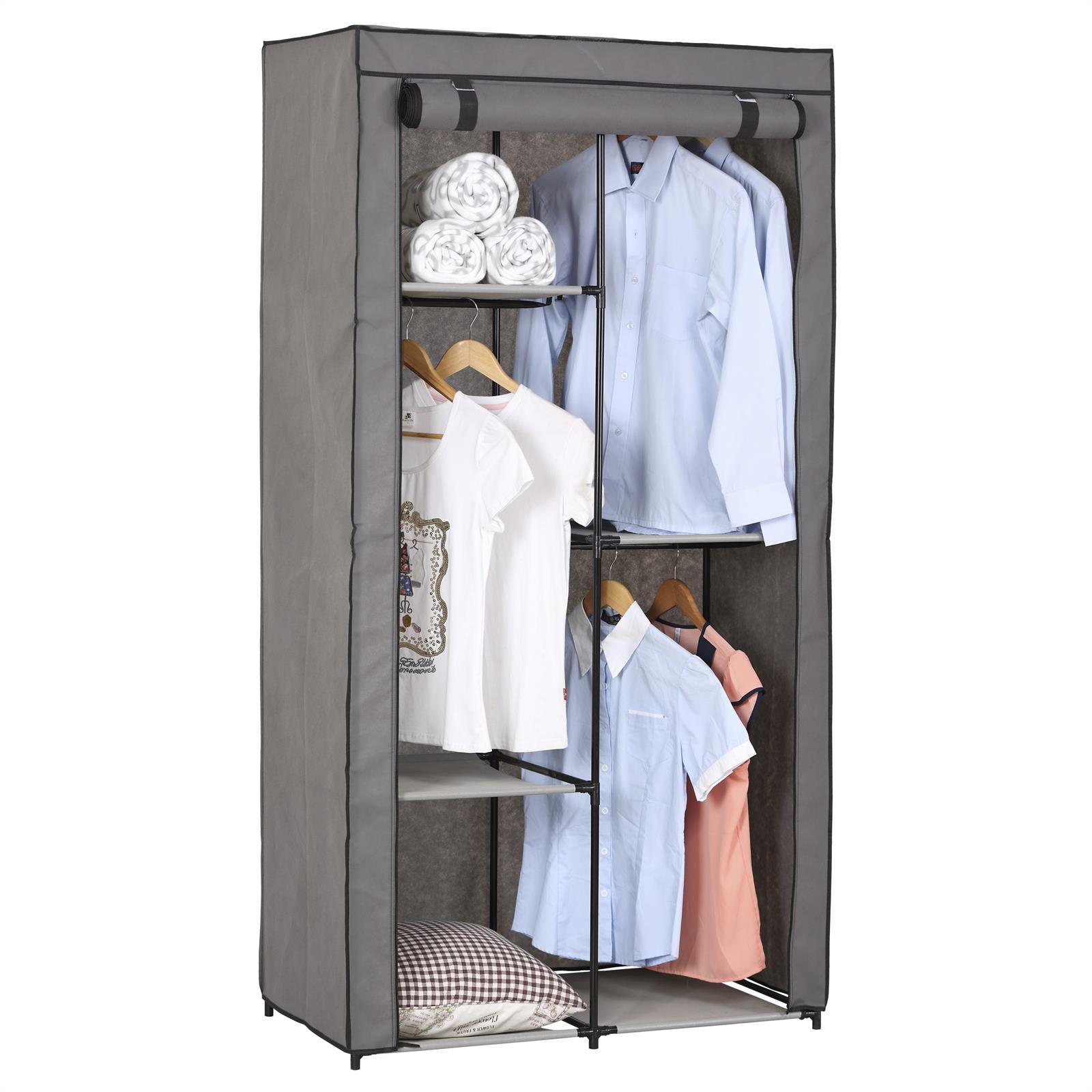 garde robe en tissu adam mobil meubles. Black Bedroom Furniture Sets. Home Design Ideas
