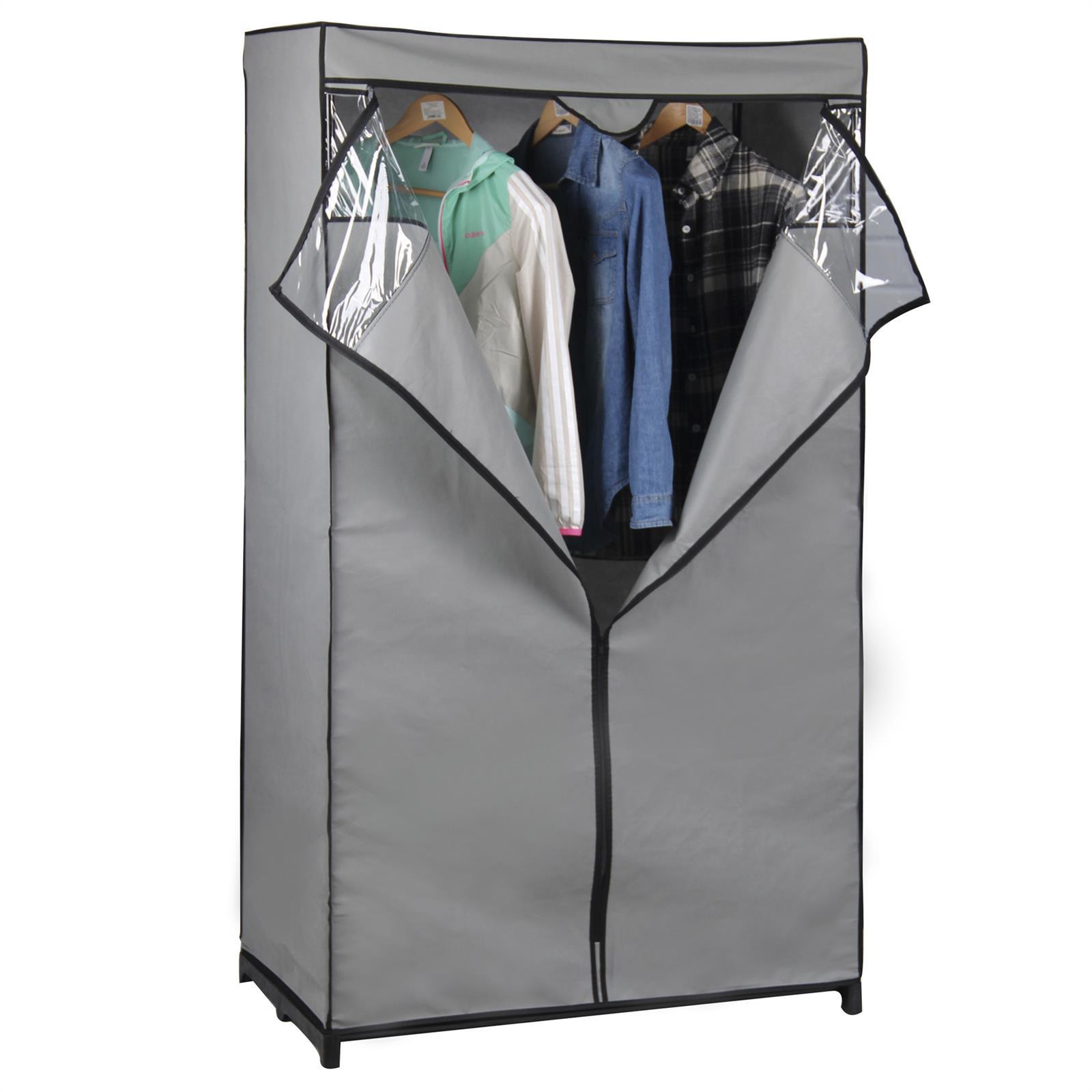 garde robe en tissu damaris mobil meubles. Black Bedroom Furniture Sets. Home Design Ideas