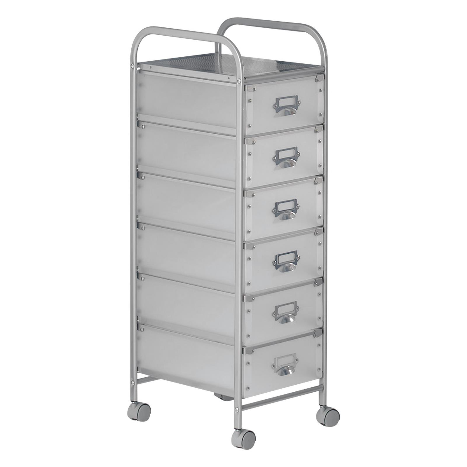 caisson sur roulette roli 1 6 tiroirs aluminium. Black Bedroom Furniture Sets. Home Design Ideas