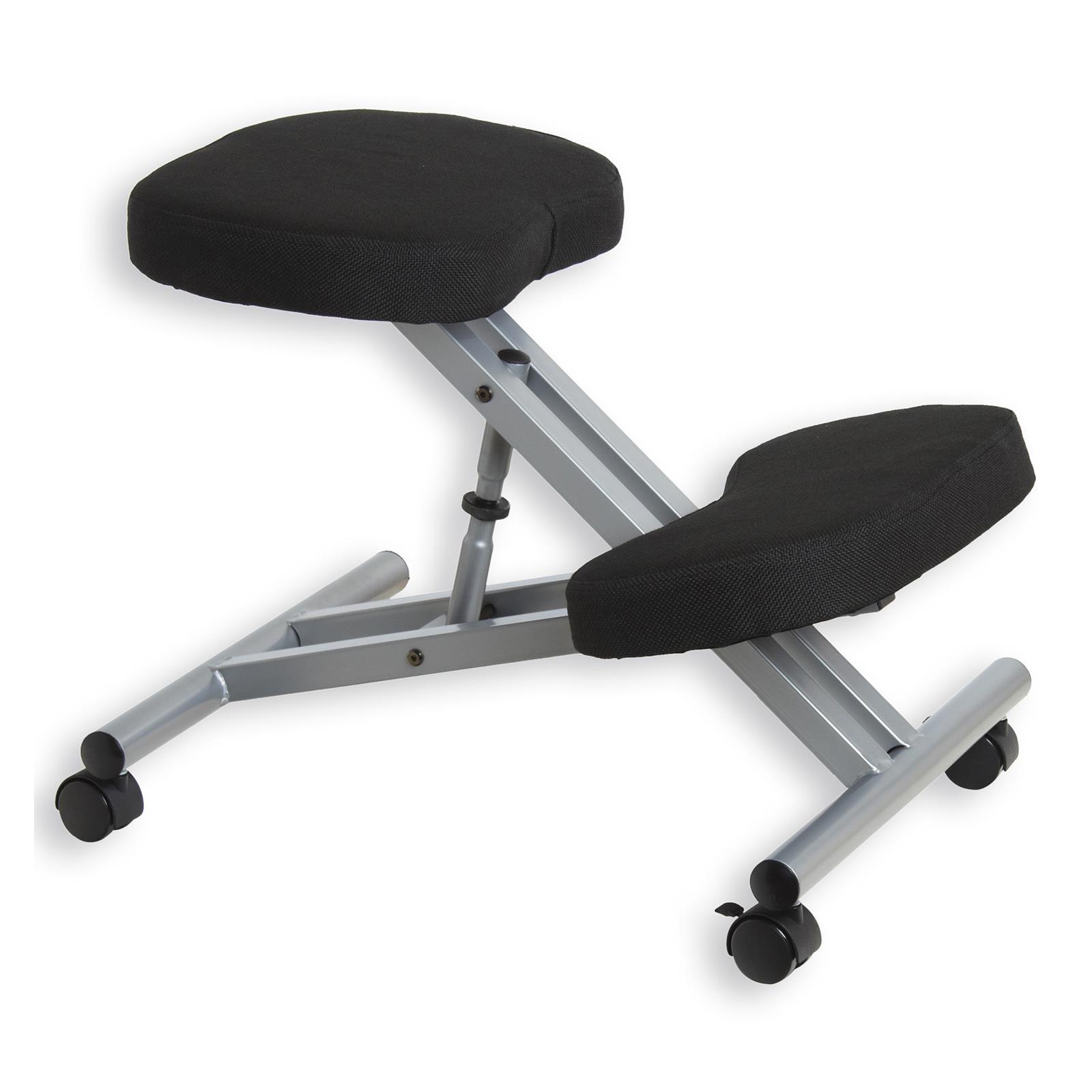 tabouret ergonomique robert couleur aluminium noir mobil meubles. Black Bedroom Furniture Sets. Home Design Ideas