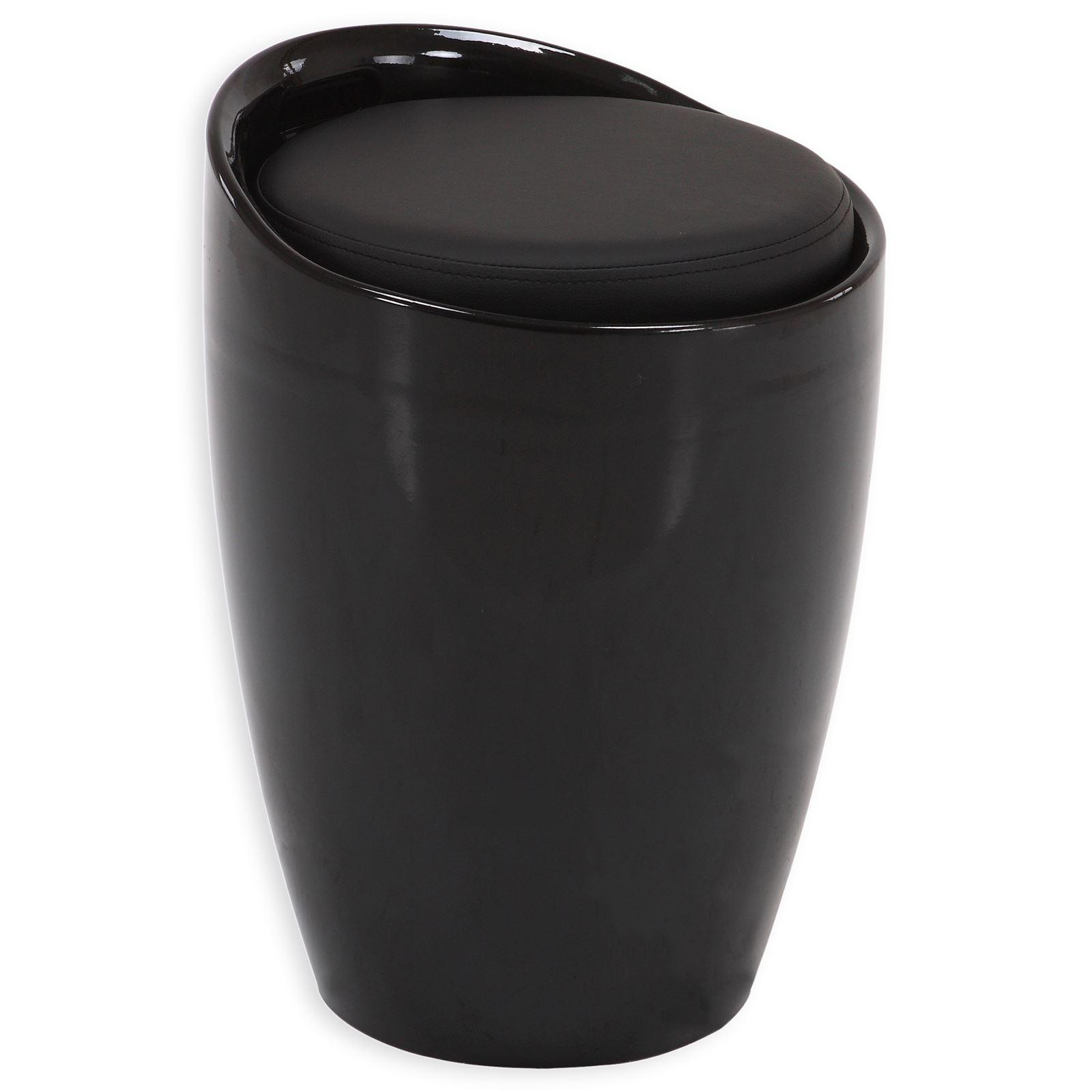 tabouret coffre de rangement daniel noir mobil meubles. Black Bedroom Furniture Sets. Home Design Ideas