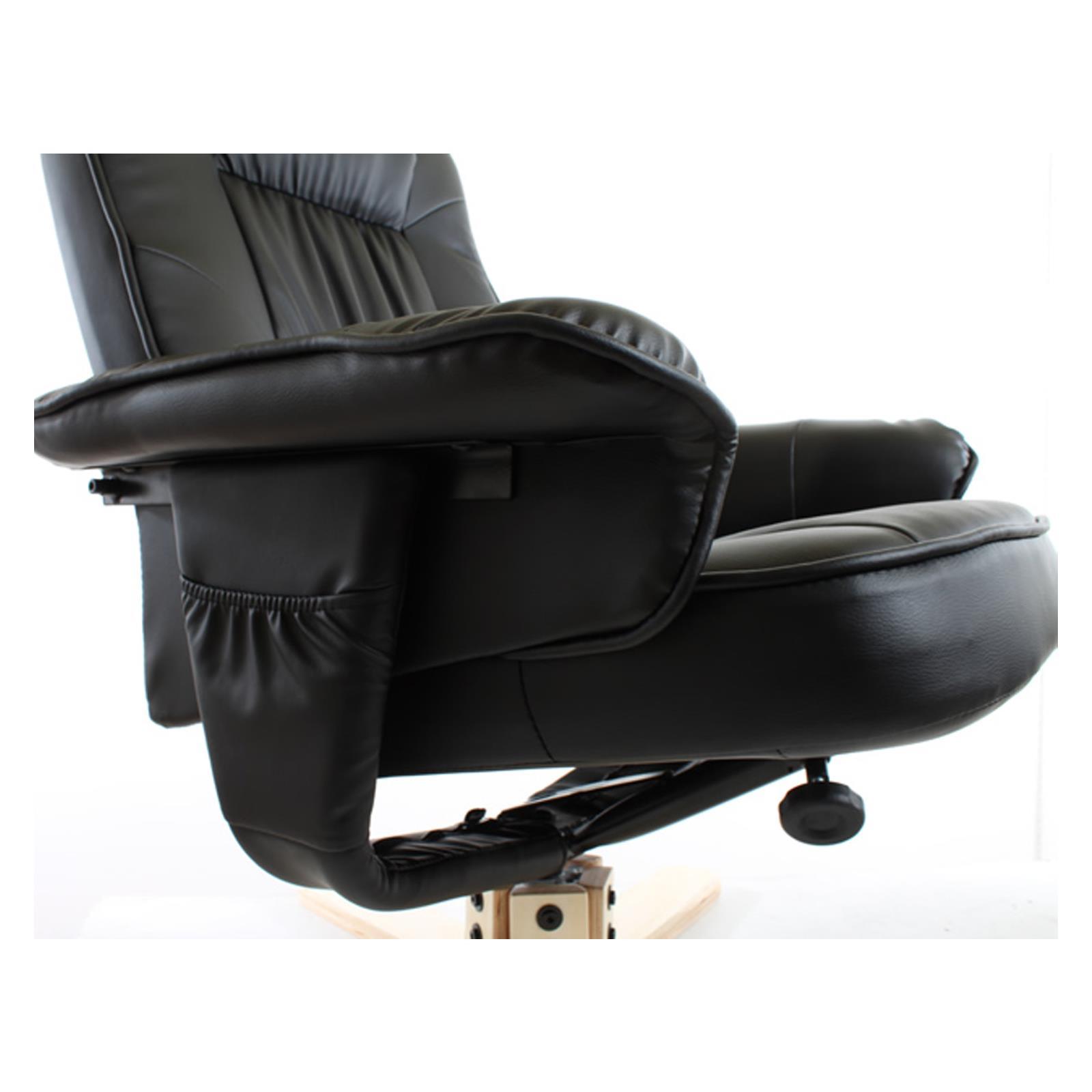 Fauteuil avec repose pieds charly noir mobil meubles - Fauteuil repose pieds ...