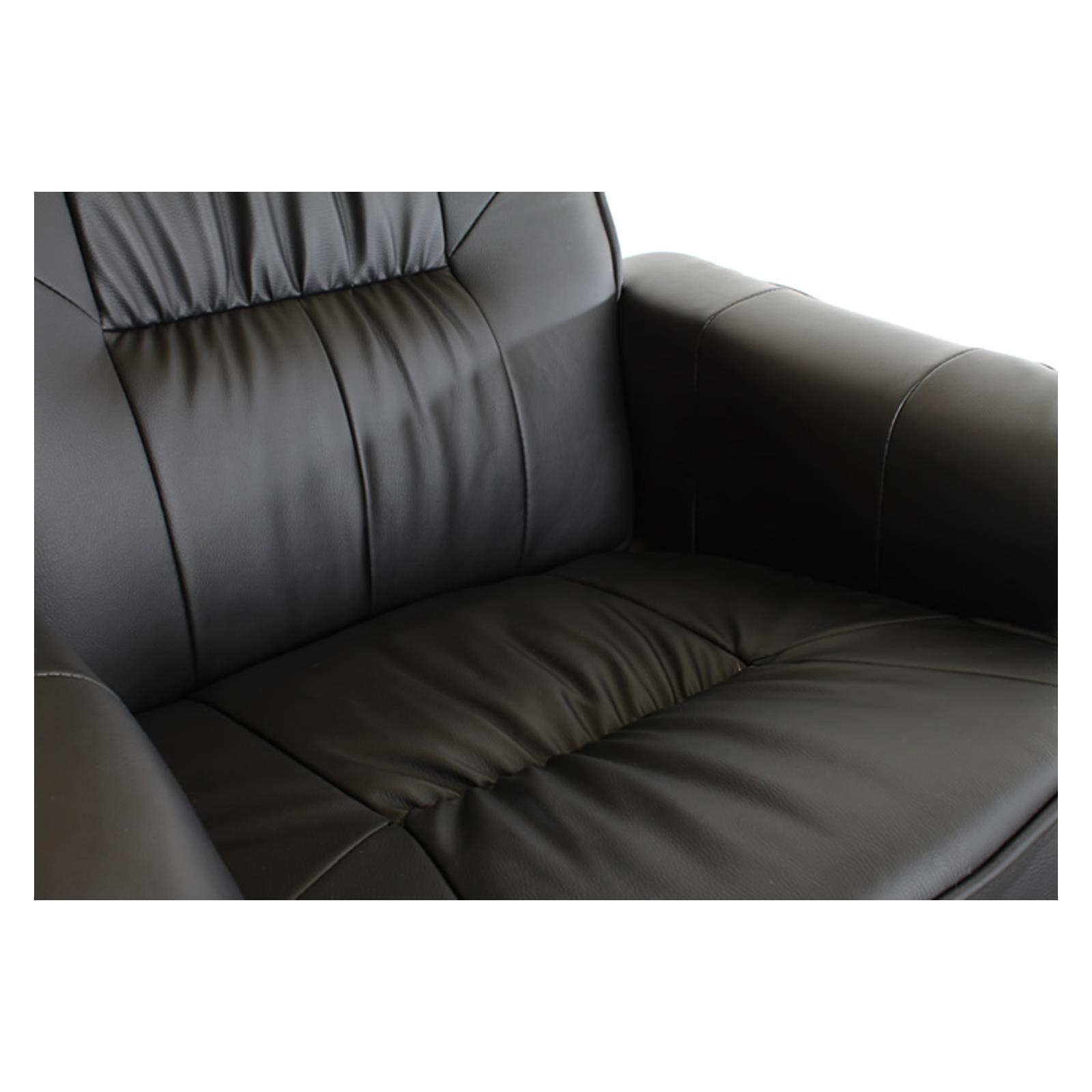 Fauteuil de relaxation massant et chauffant comfort noir for Fauteuil de lecture confortable