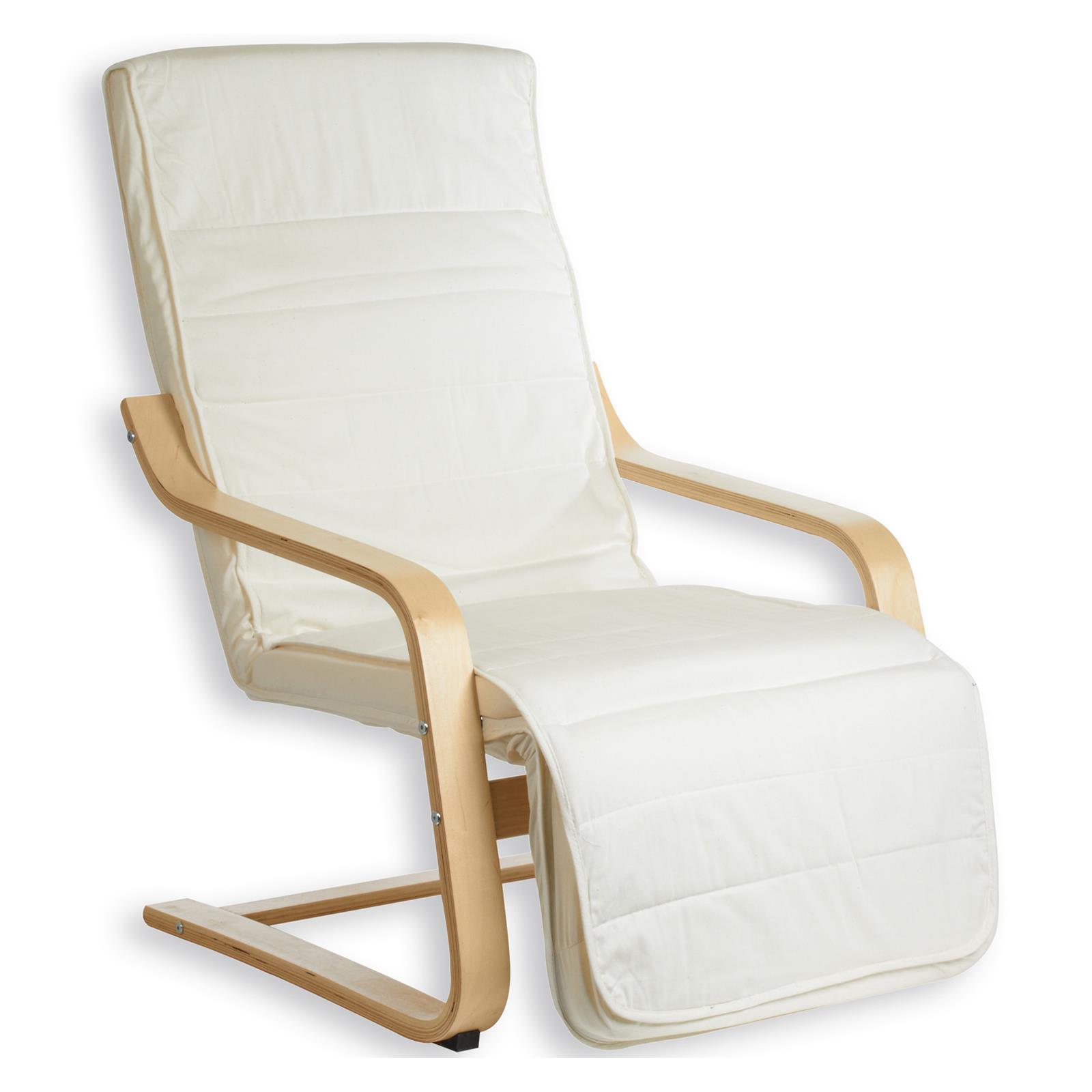 Fauteuil avec repose pieds int gr kessi beige mobil meubles - Canape avec repose pied integre ...