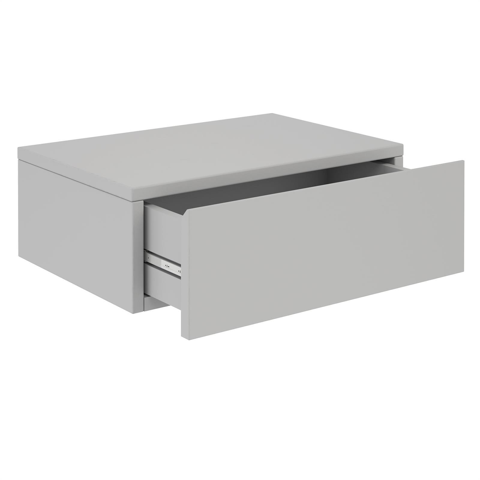 chevet suspendu tag re 1 tiroir m lamin ebay. Black Bedroom Furniture Sets. Home Design Ideas