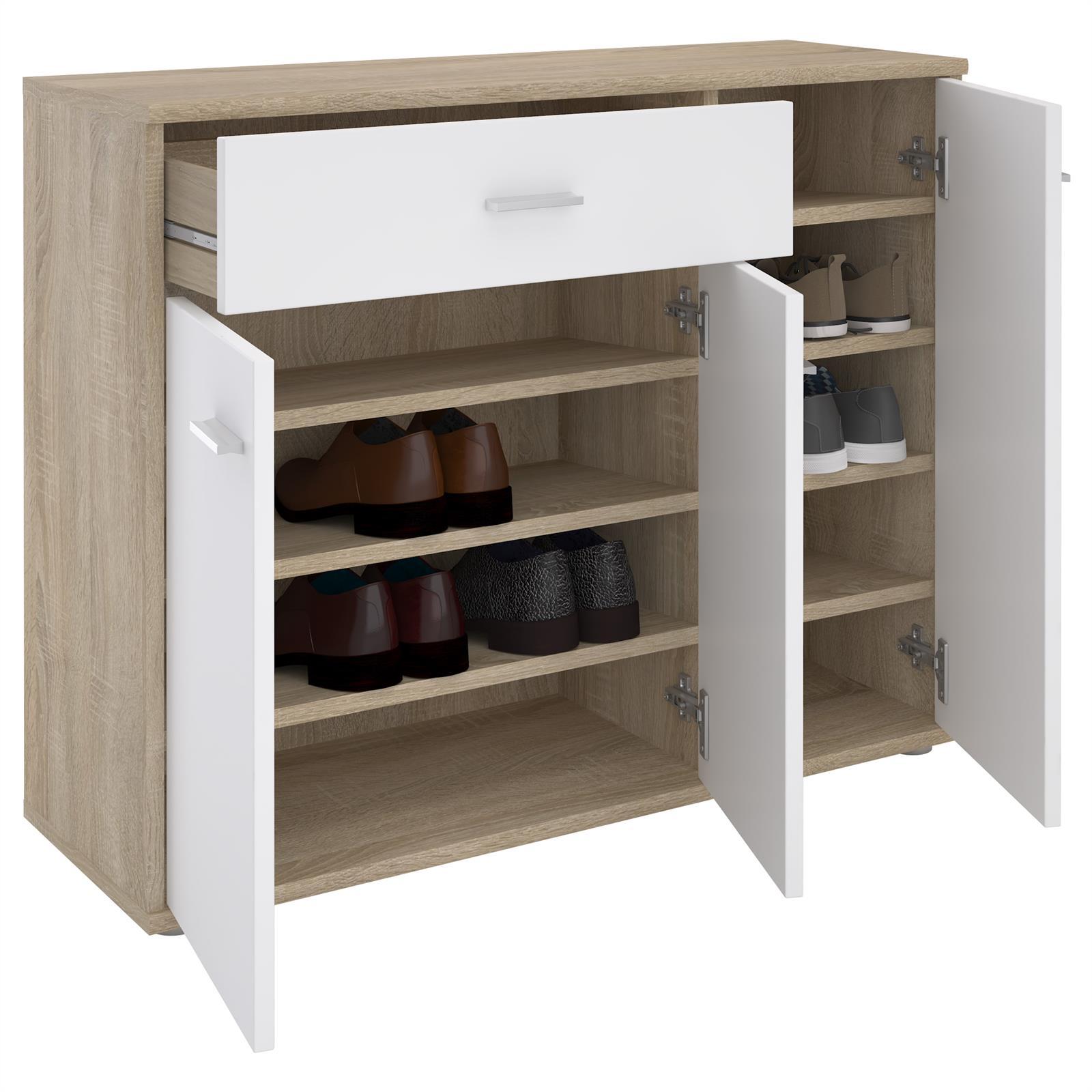 meuble chaussures camille en m lamin d cor ch ne. Black Bedroom Furniture Sets. Home Design Ideas