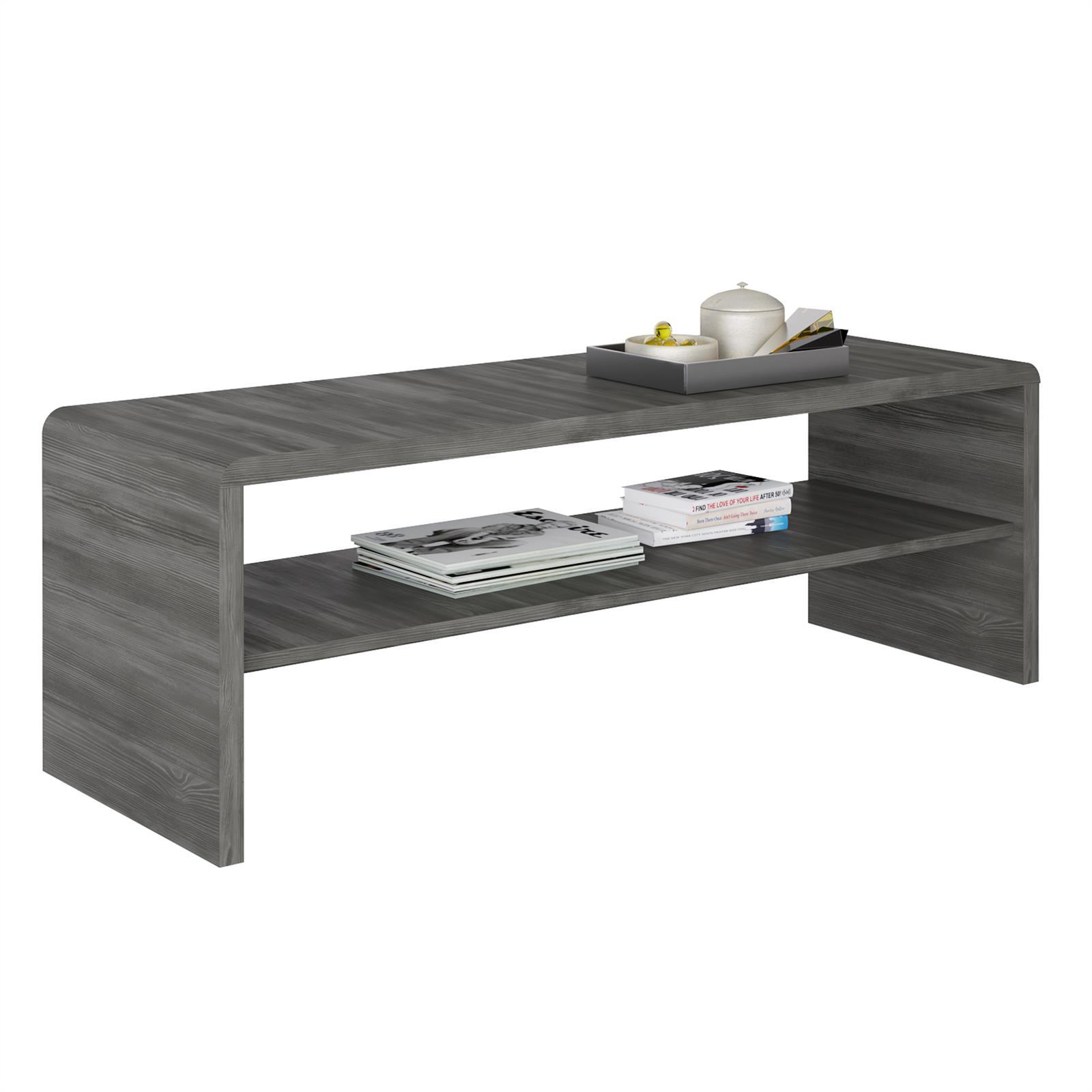 meuble tv table basse louna d cor gris cendr mobil meubles. Black Bedroom Furniture Sets. Home Design Ideas