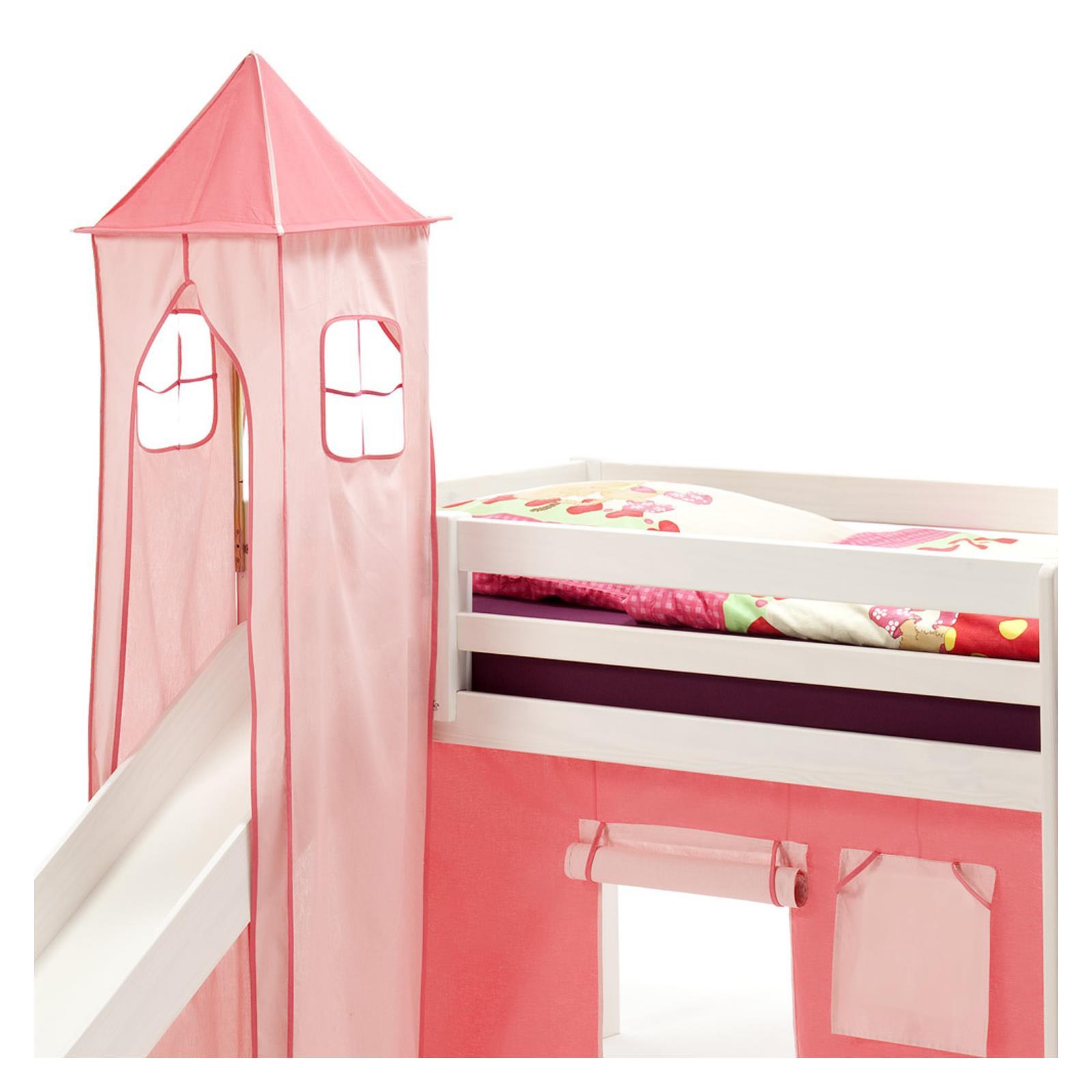 donjon max pour lit sur lev avec toboggan rose mobil meubles. Black Bedroom Furniture Sets. Home Design Ideas