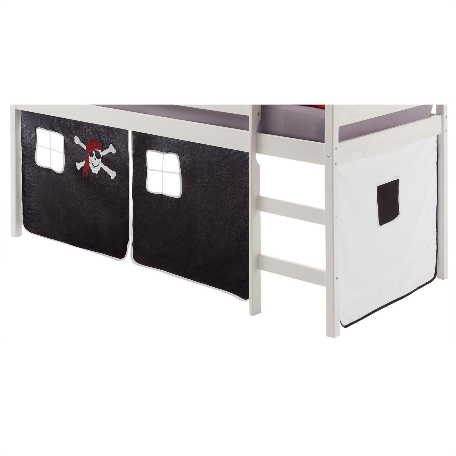 Rideaux max pour lit superpos ou sur lev motif pirate mobil meubles - Rideaux pour lit sureleve ...