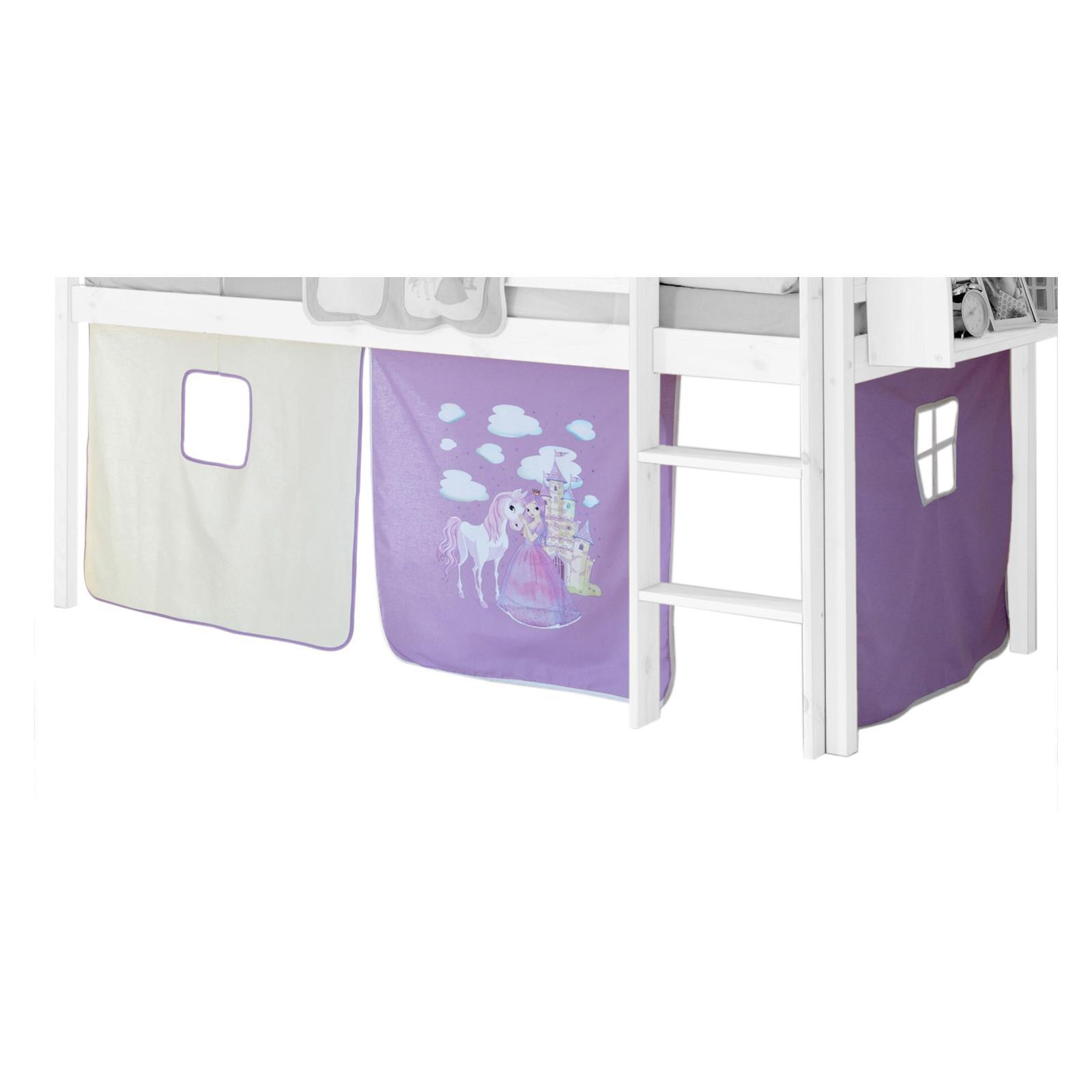 rideaux max pour lit superpos ou sur lev motif princesse mobil meubles. Black Bedroom Furniture Sets. Home Design Ideas