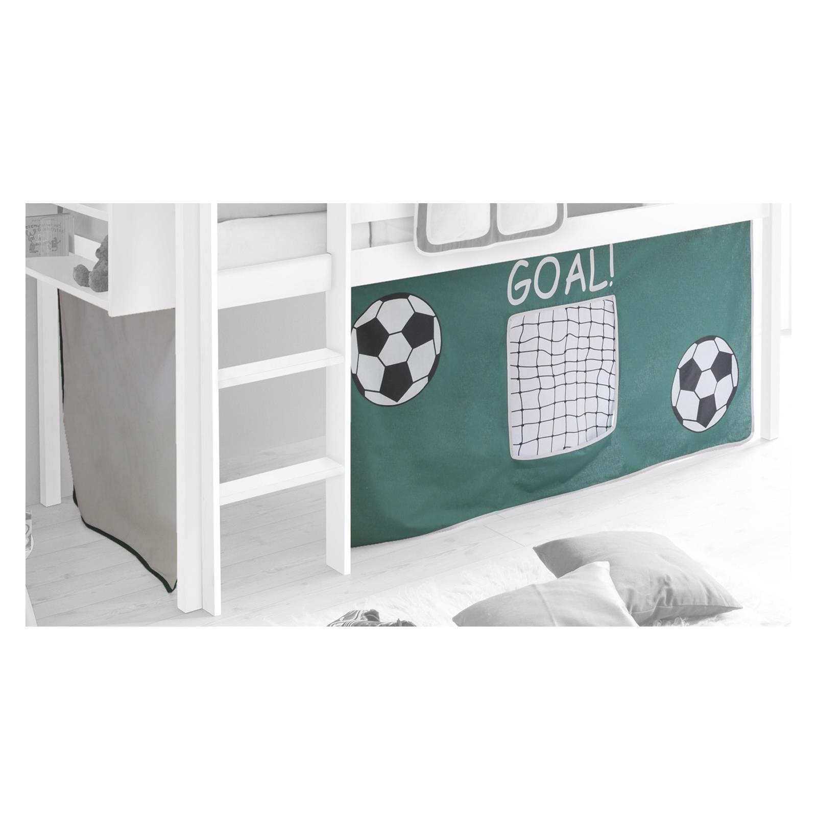 Rideaux max pour lit superpos ou sur lev motif foot mobil meubles - Rideau pour lit sureleve ...