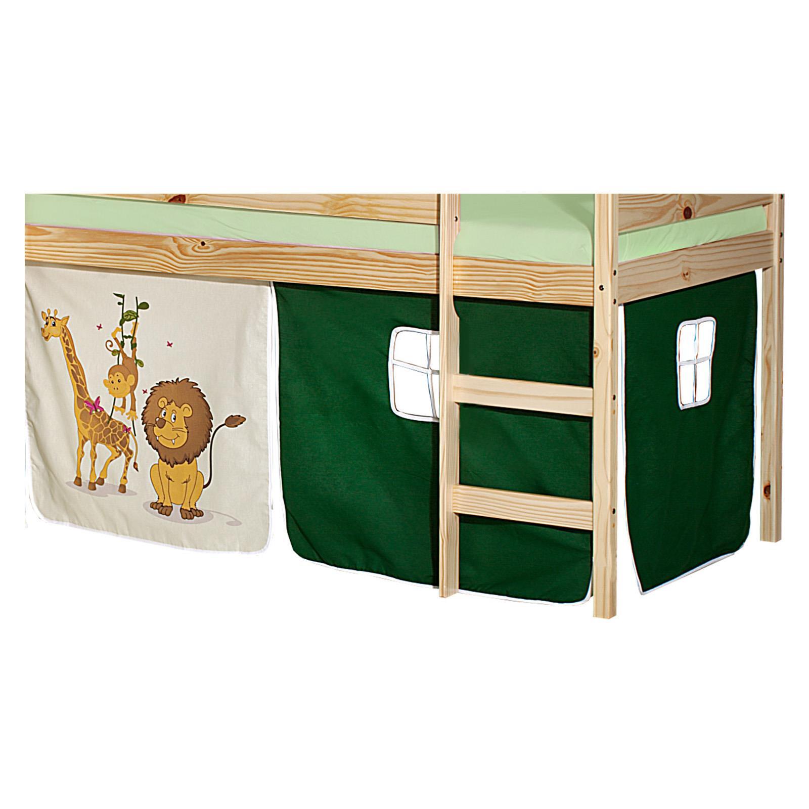 lot de rideaux pour lit sur lev motif savane mobil meubles. Black Bedroom Furniture Sets. Home Design Ideas