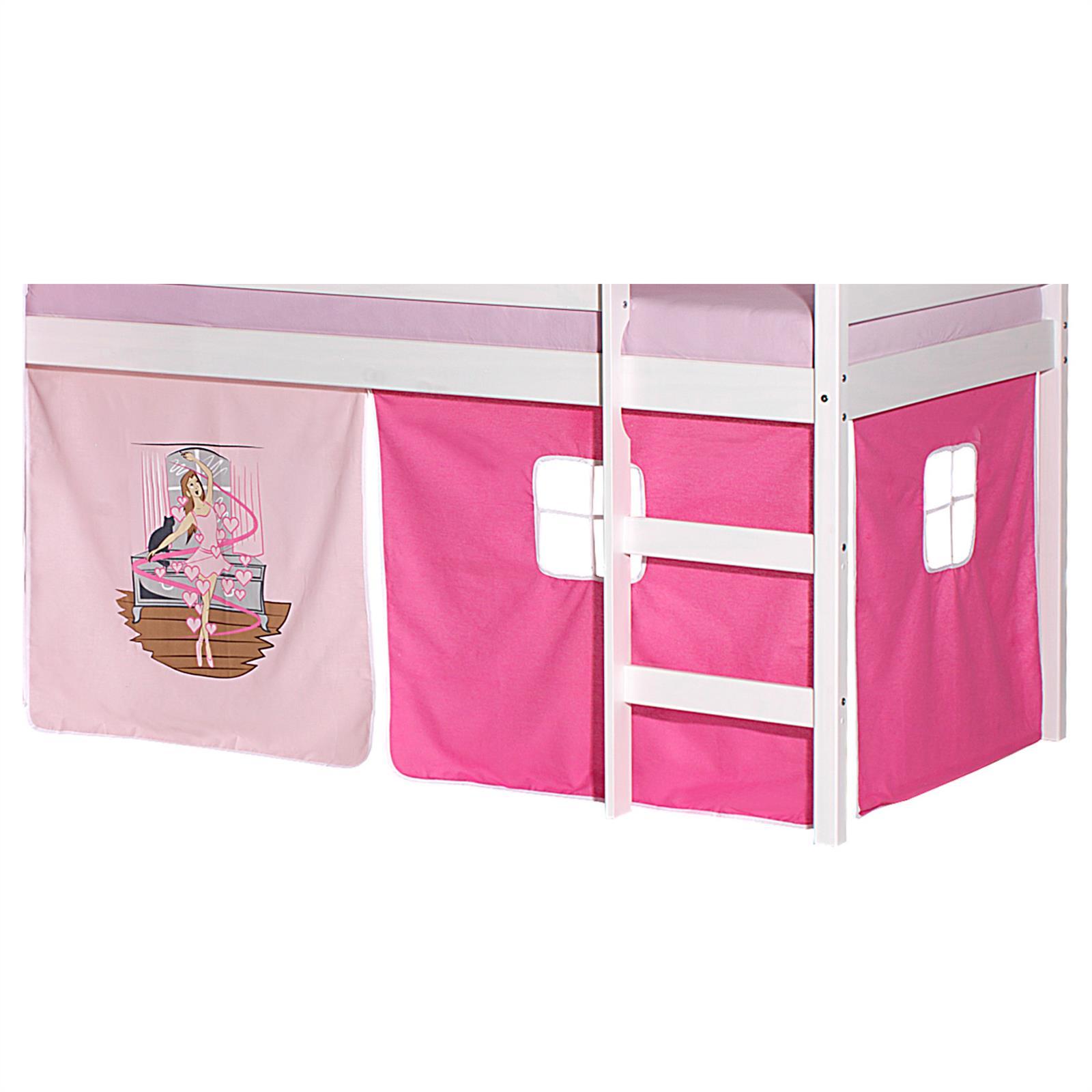 Lot de rideaux pour lit sur lev motif danseuse mobil meubles - Rideaux pour lit sureleve ...
