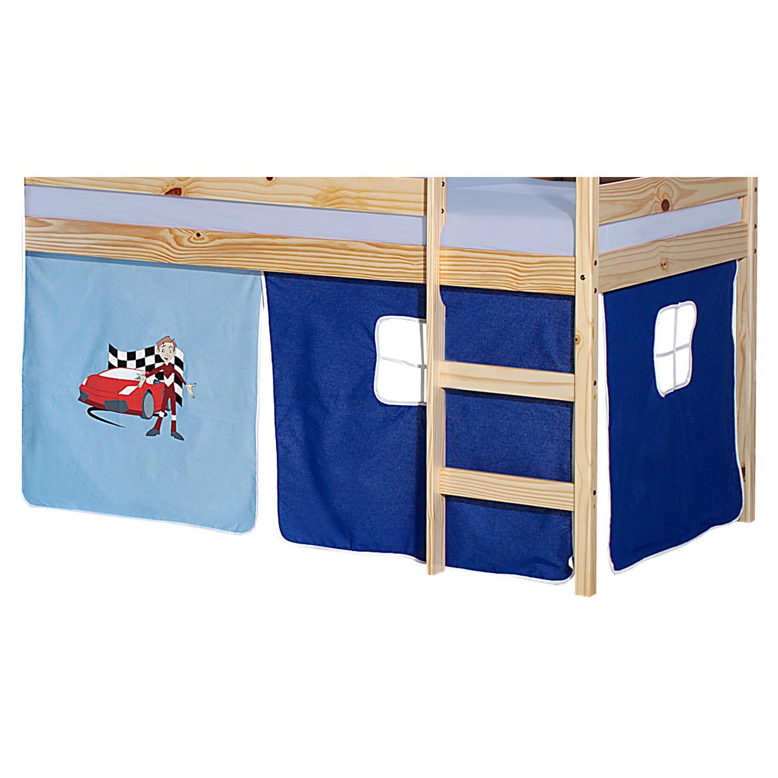 Lot de rideaux pour lit sur lev motif auto mobil meubles - Rideau pour lit sureleve ...