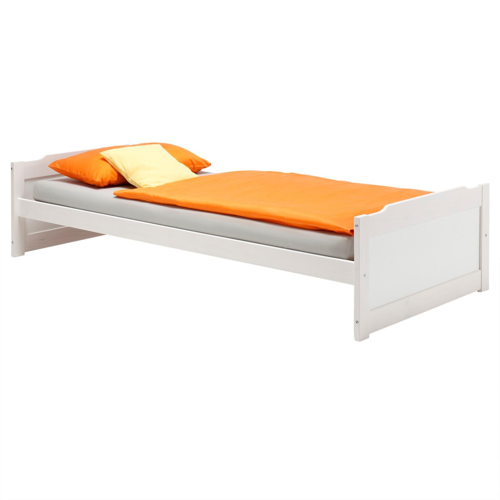 lit en pin fritz 90 x 200 cm lasur blanc mobil meubles. Black Bedroom Furniture Sets. Home Design Ideas