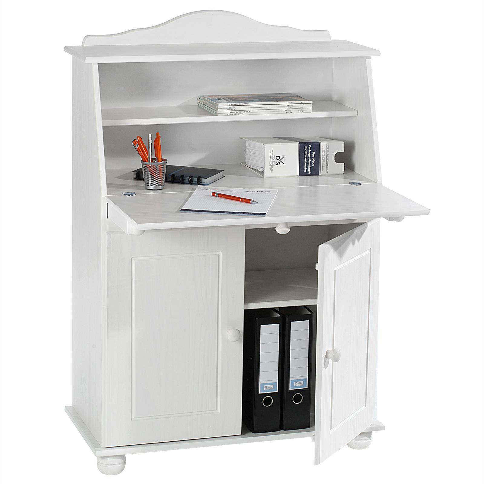 bureau secr taire david lasur blanc mobil meubles. Black Bedroom Furniture Sets. Home Design Ideas