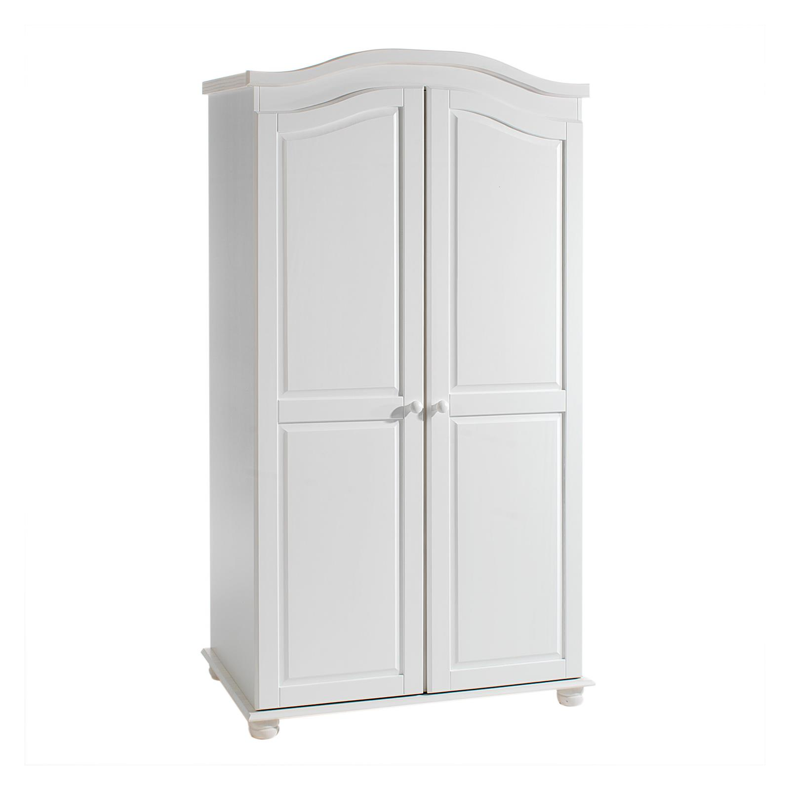 armoire en pin davos lasur blanc mobil meubles. Black Bedroom Furniture Sets. Home Design Ideas