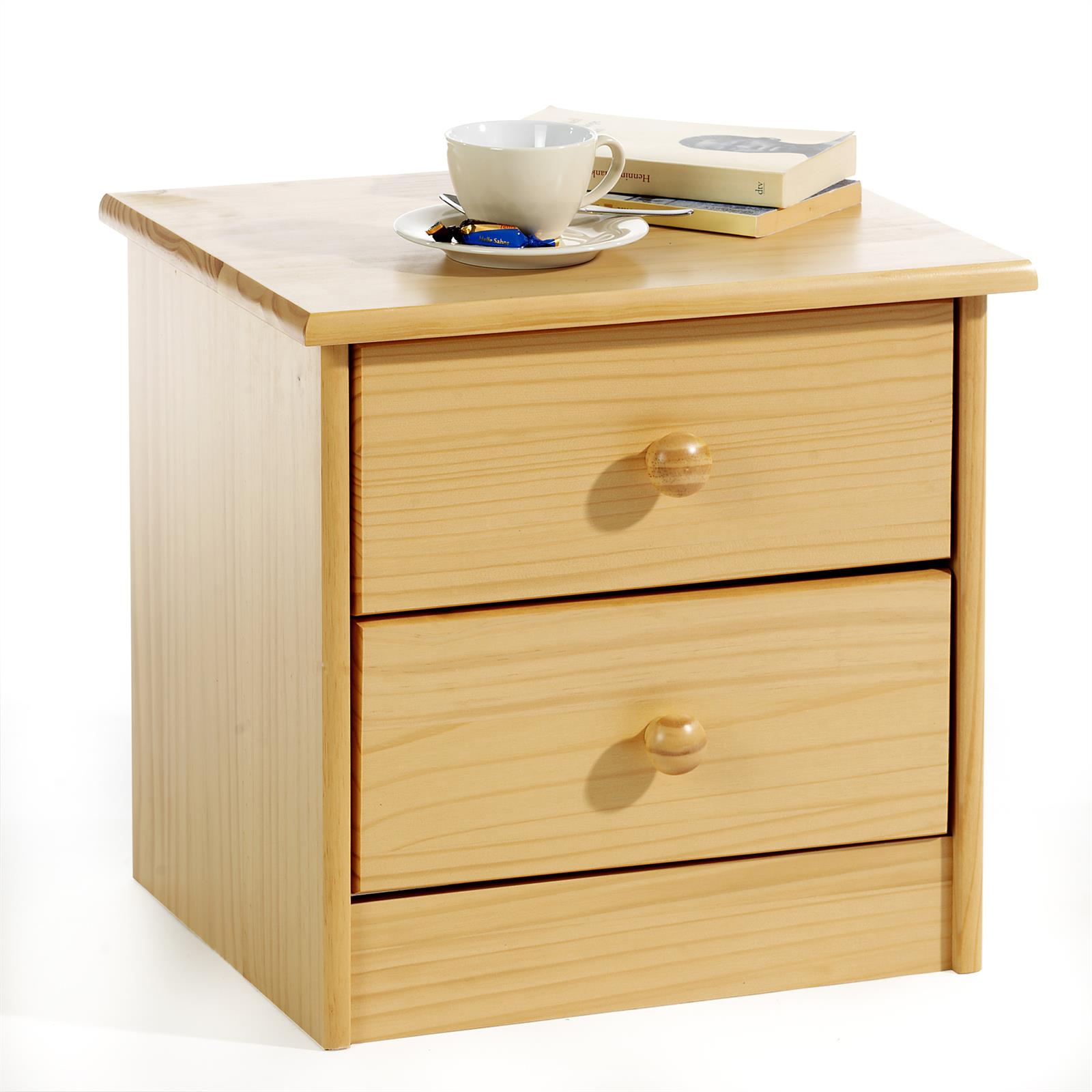 table de chevet en pin rondo couleur h tre mobil meubles. Black Bedroom Furniture Sets. Home Design Ideas