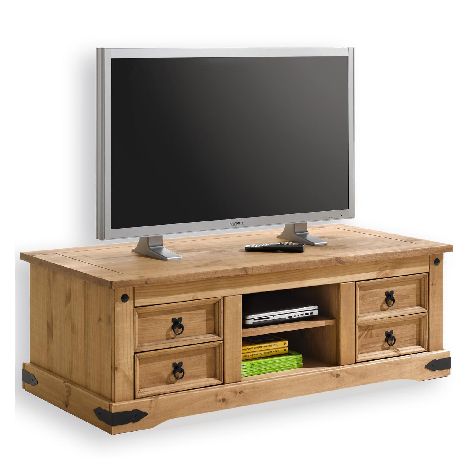 meuble tv en pin tequila style mexicain finition cir e mobil meubles. Black Bedroom Furniture Sets. Home Design Ideas