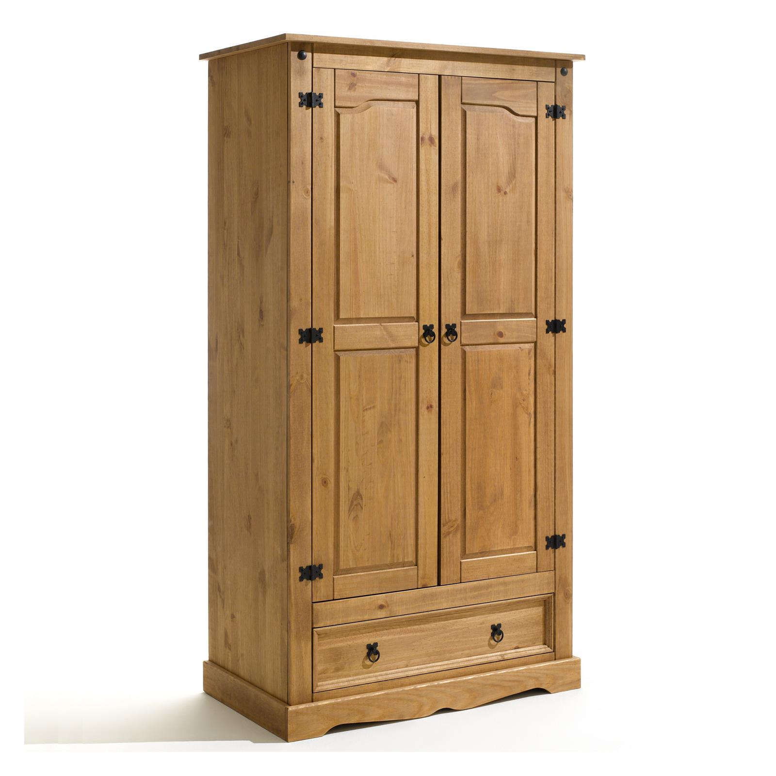 armoire en pin tequila style mexicain finition cir e mobil meubles. Black Bedroom Furniture Sets. Home Design Ideas