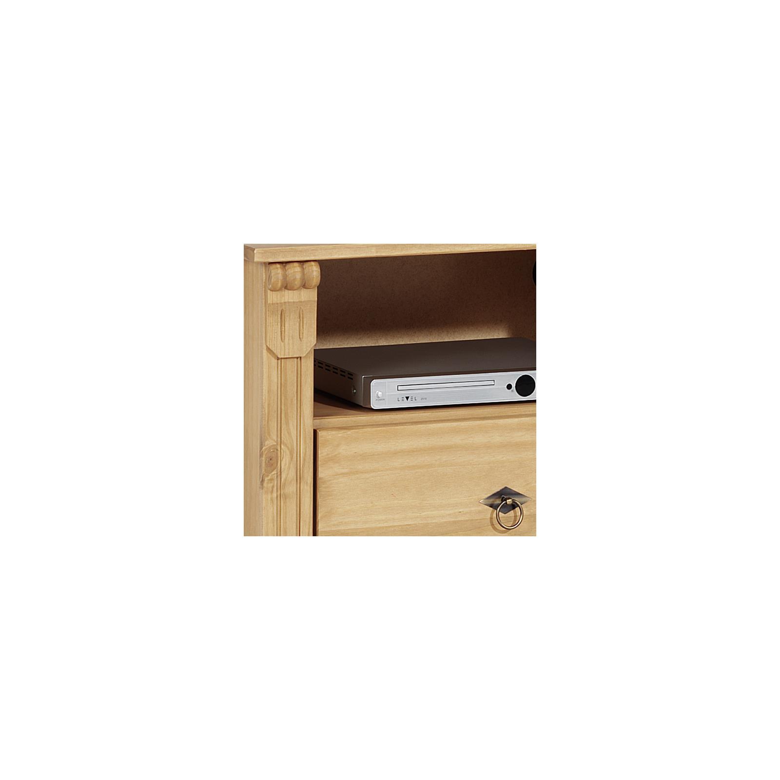 Meuble tv en pin bologna finition cir e mobil meubles for Finition meuble