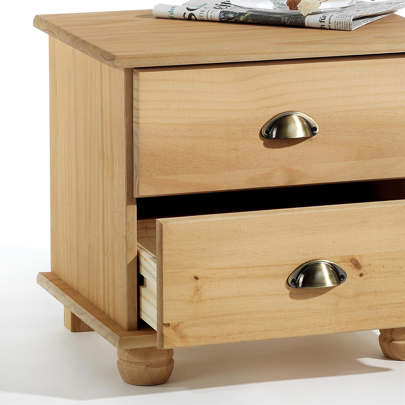 table de chevet en pin colmar finition cir e mobil meubles. Black Bedroom Furniture Sets. Home Design Ideas