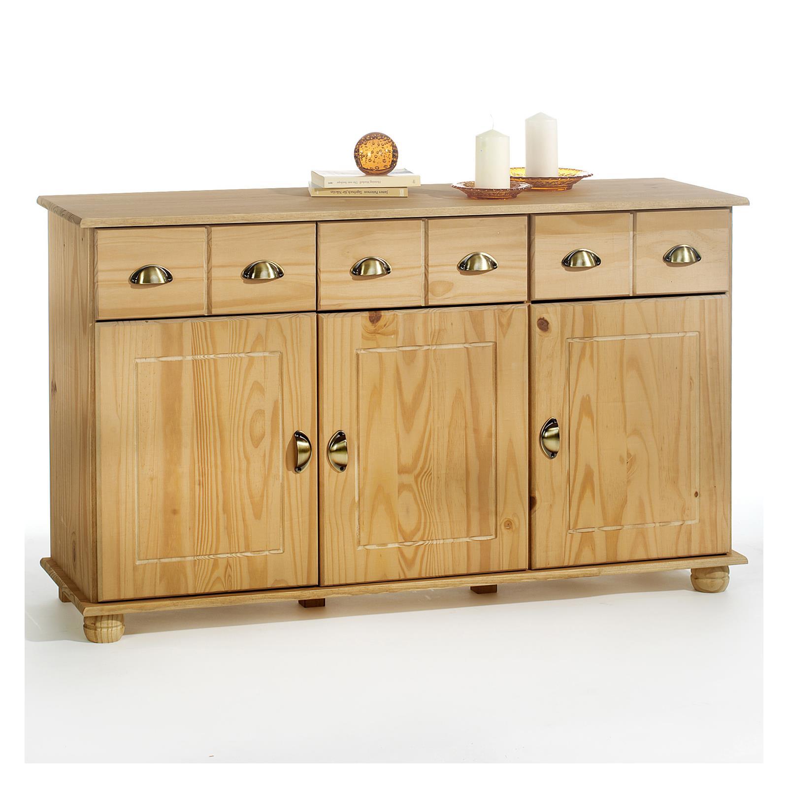 buffet en pin colmar 3 tiroirs 3 portes finition cir e. Black Bedroom Furniture Sets. Home Design Ideas