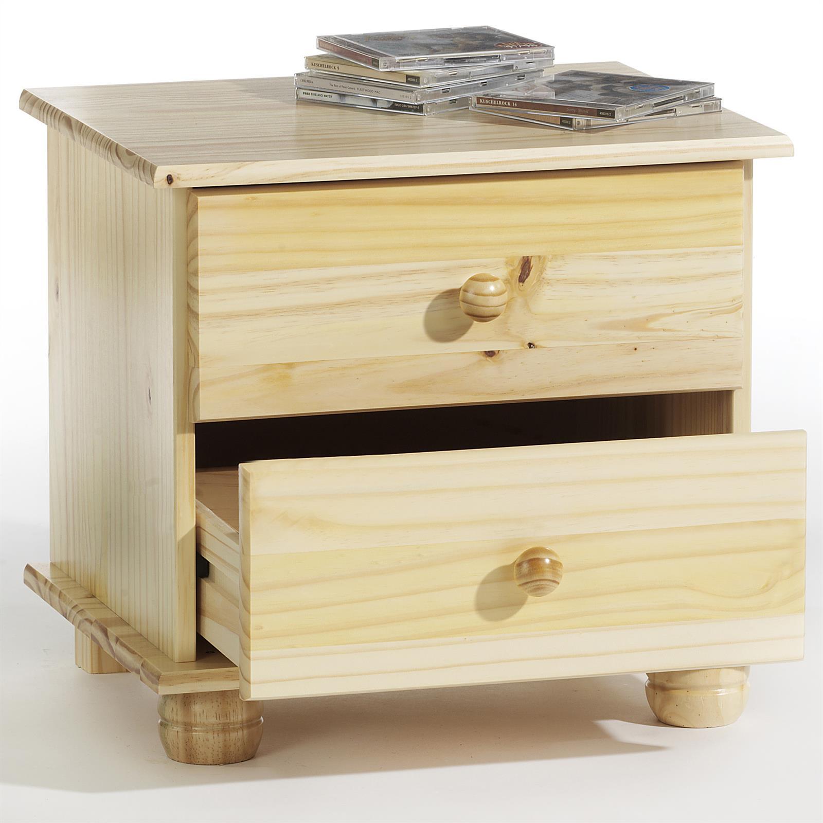 table de chevet en pin bern vernis naturel mobil meubles. Black Bedroom Furniture Sets. Home Design Ideas