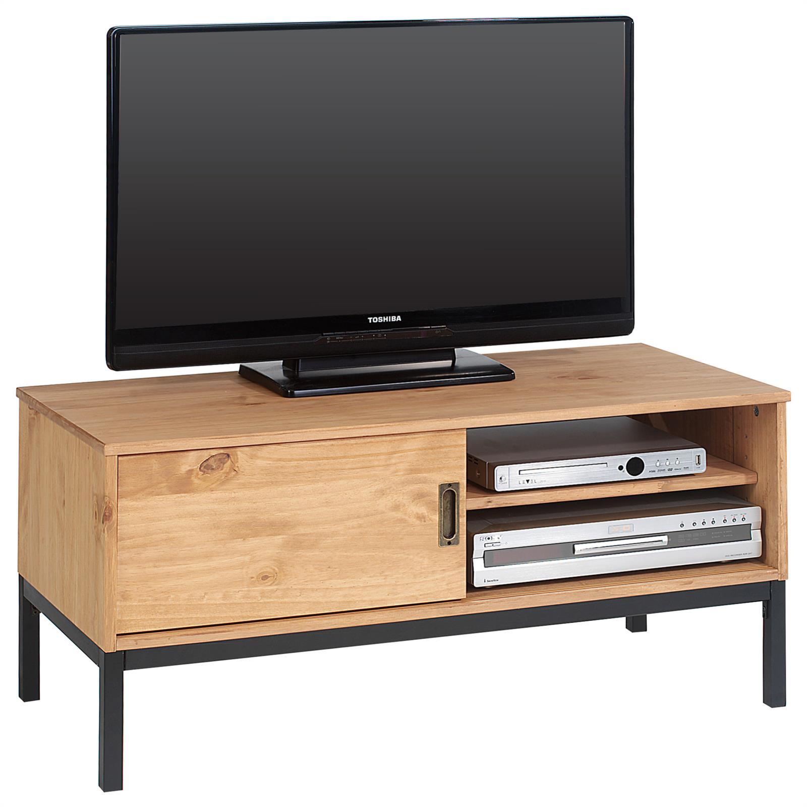meuble tv selma 1 porte coulissante teint brun clair mobil meubles. Black Bedroom Furniture Sets. Home Design Ideas