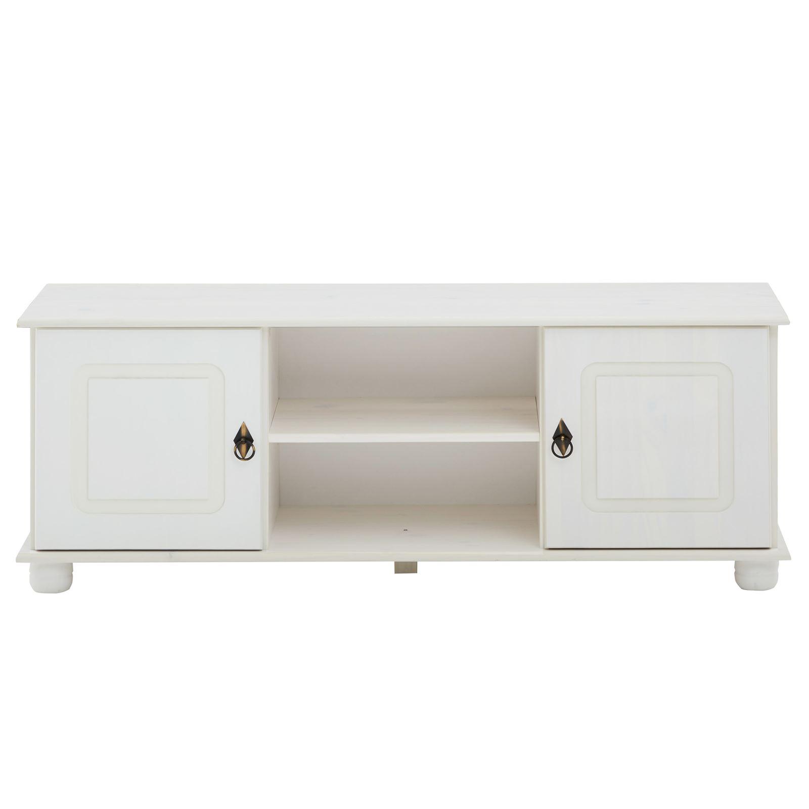 meuble tv en pin belfort 2 portes 2 niches lasur. Black Bedroom Furniture Sets. Home Design Ideas