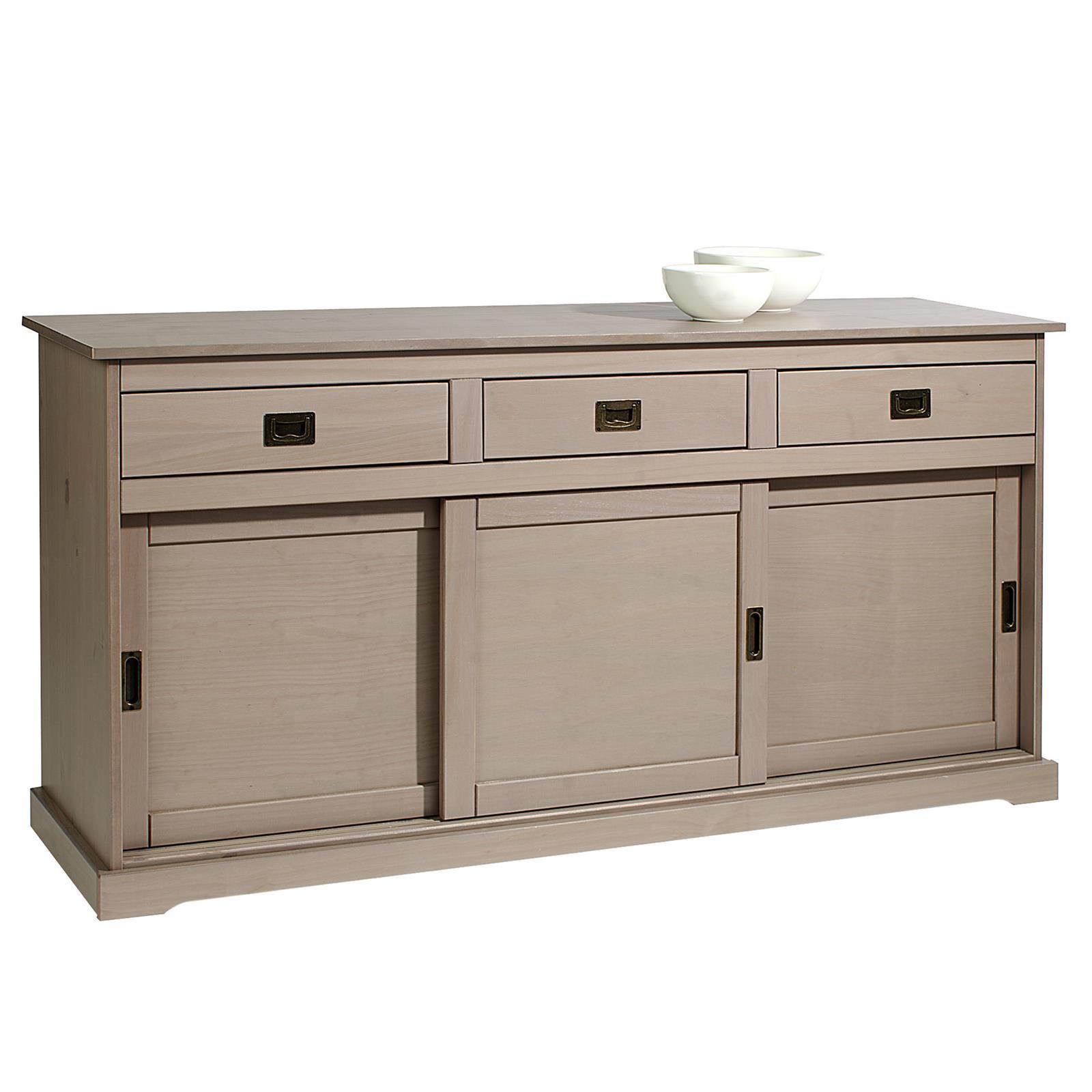 buffet savona en pin massif 3 tiroirs et 3 portes lasur. Black Bedroom Furniture Sets. Home Design Ideas