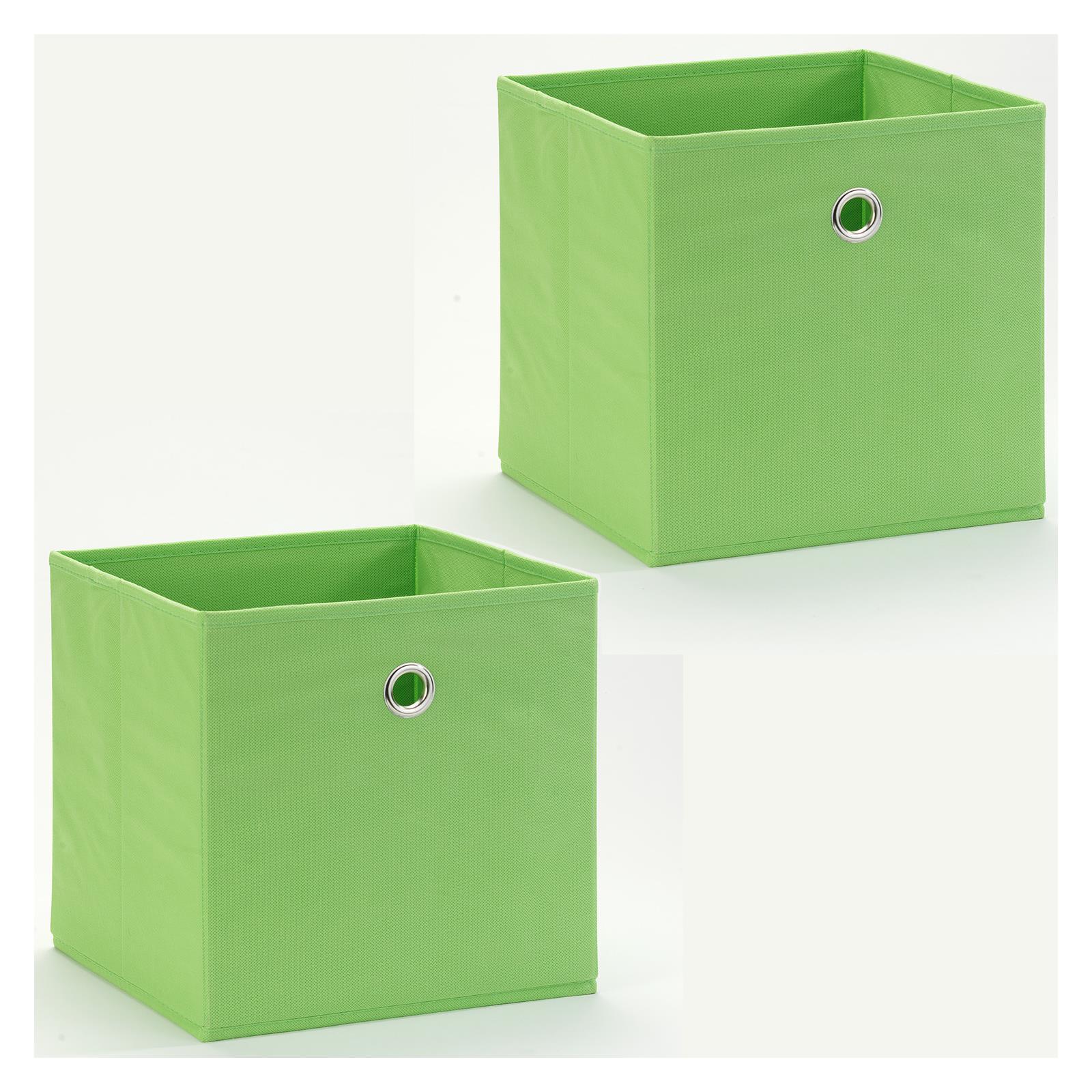 lot de 2 tiroirs en tissu ela vert mobil meubles. Black Bedroom Furniture Sets. Home Design Ideas