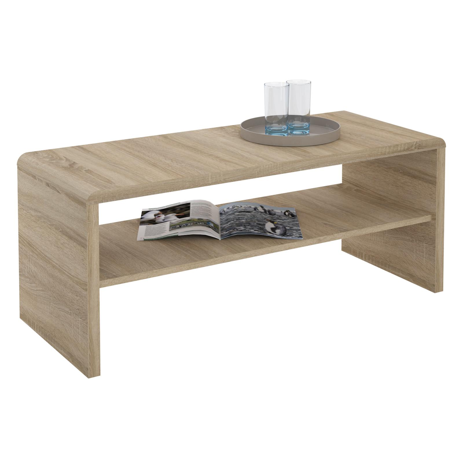 meuble tv table basse louna d cor sonoma mobil meubles. Black Bedroom Furniture Sets. Home Design Ideas