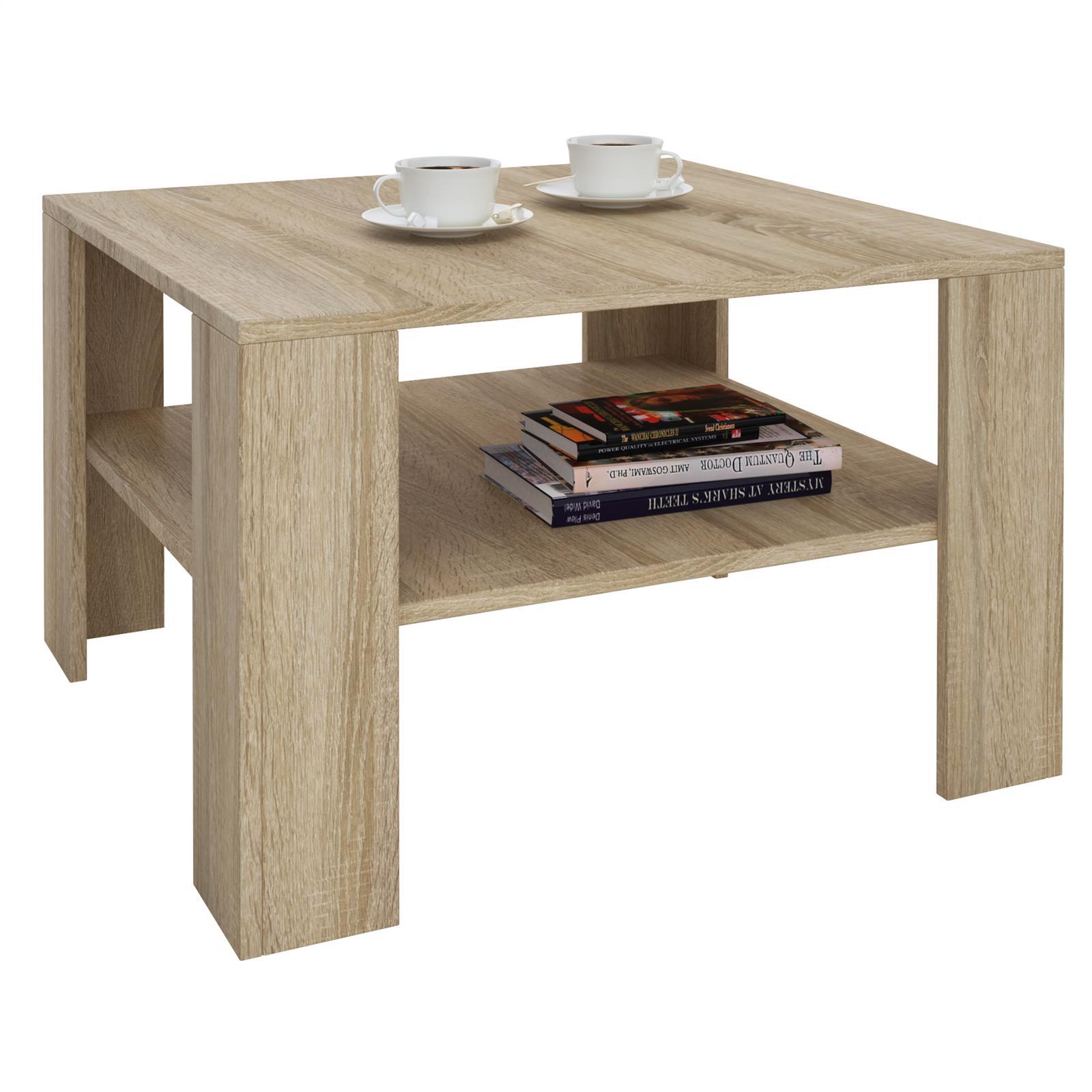 table basse sejour en m lamin d cor ch ne sonoma. Black Bedroom Furniture Sets. Home Design Ideas