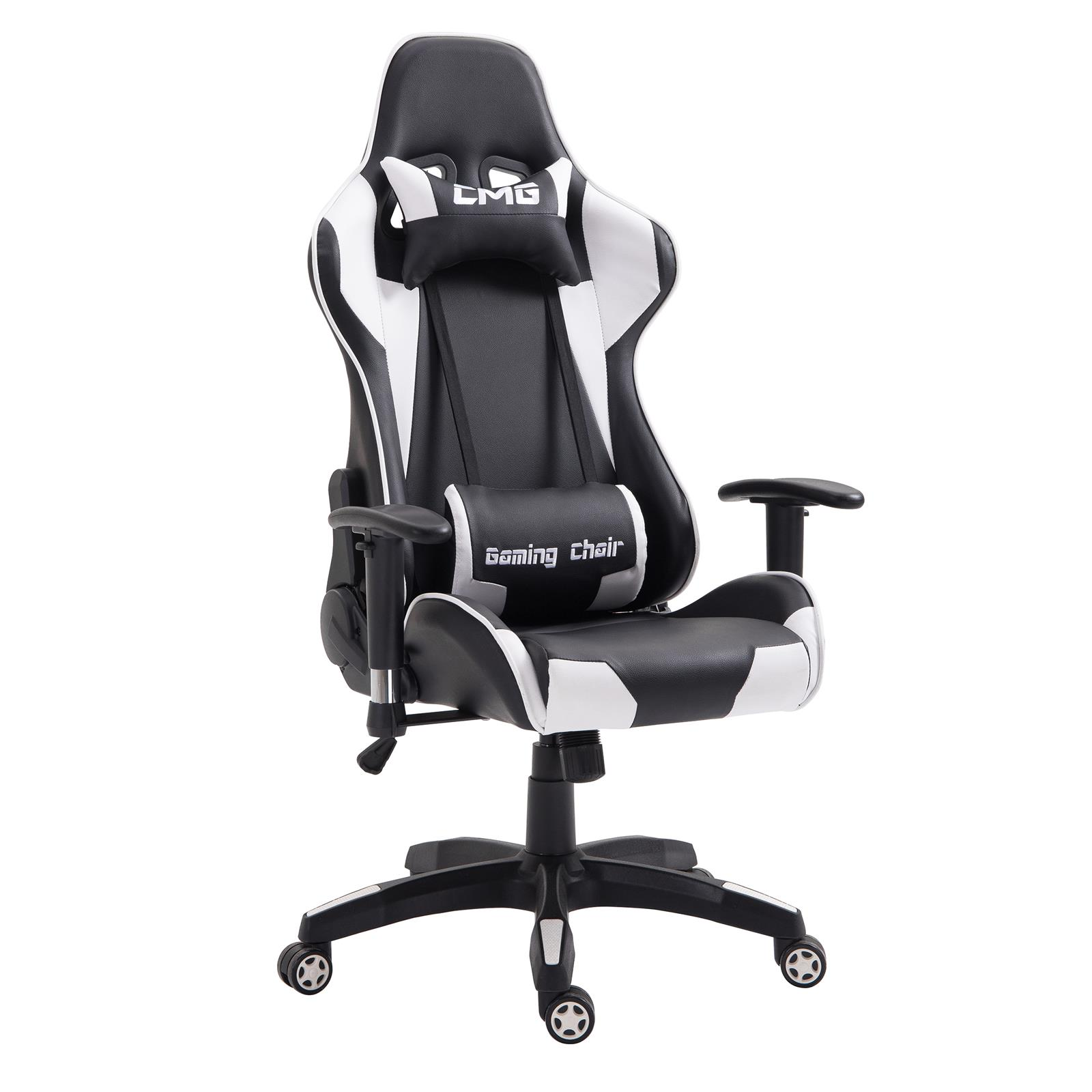 fauteuil de bureau gaming noir et blanc mobil meubles. Black Bedroom Furniture Sets. Home Design Ideas