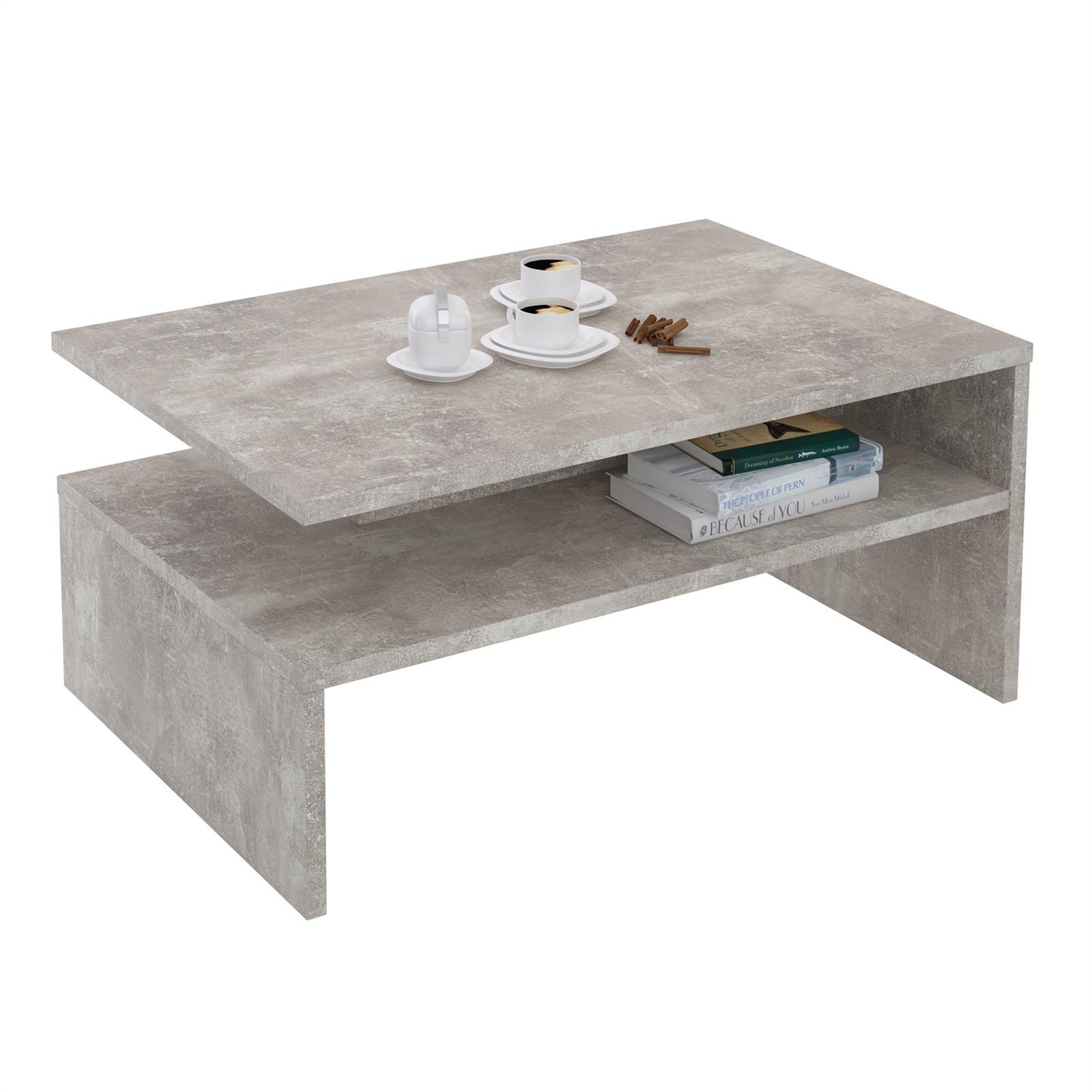 table basse adelaide en m lamin d cor b ton mobil. Black Bedroom Furniture Sets. Home Design Ideas
