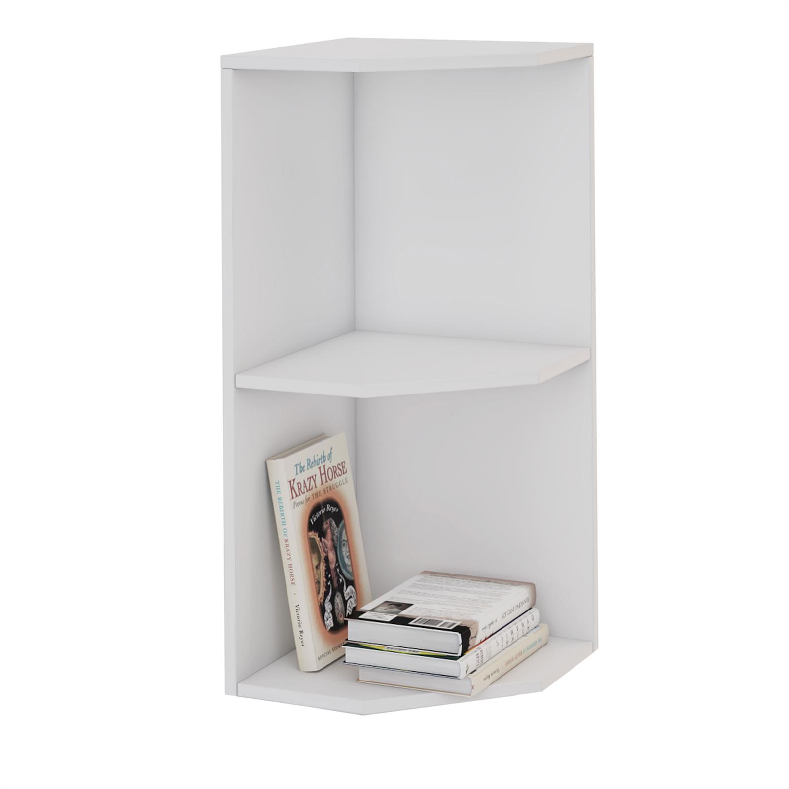 etag re d 39 angle aurelie en m lamin blanc mat mobil meubles. Black Bedroom Furniture Sets. Home Design Ideas