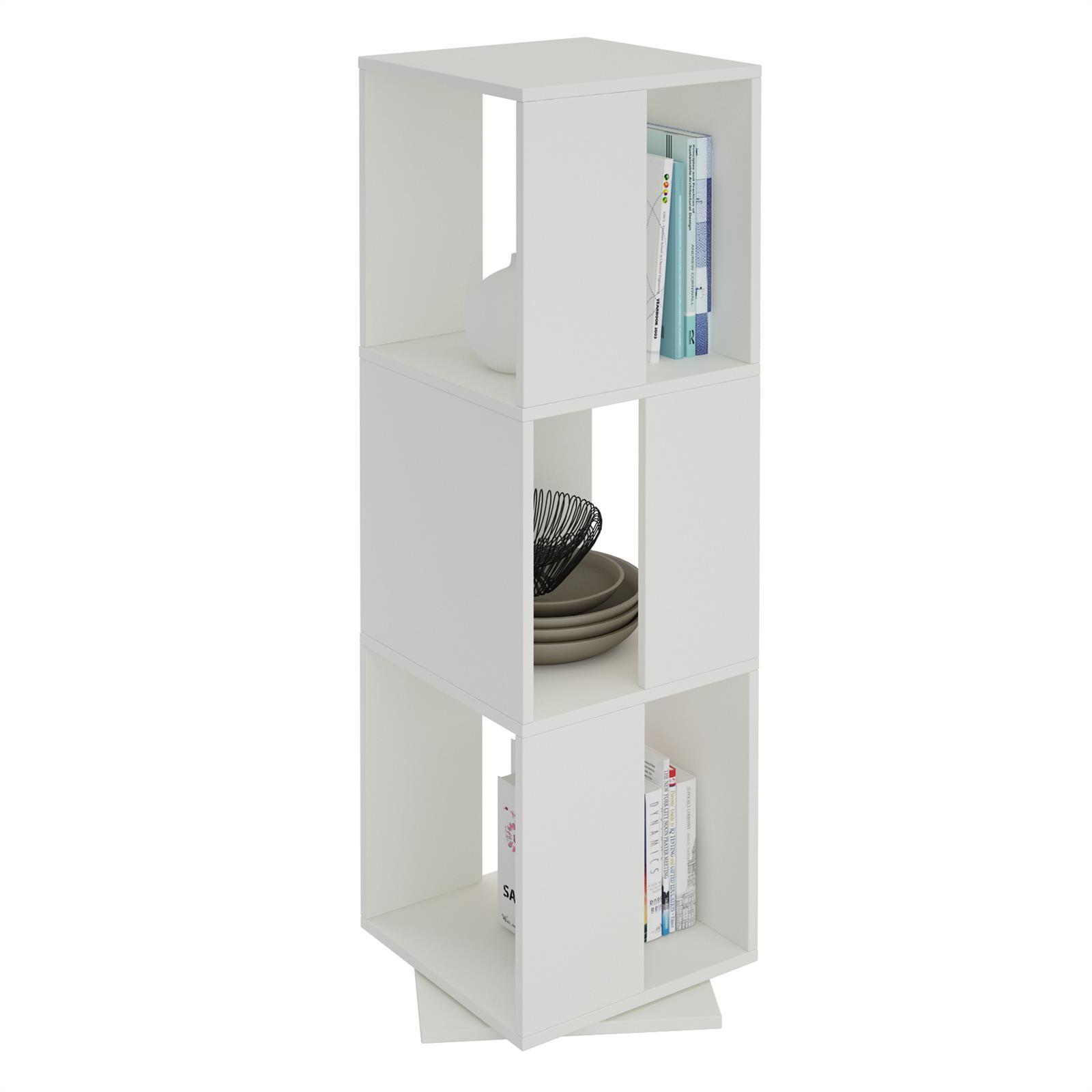 biblioth que pivotante elle m lamin blanc mobil meubles. Black Bedroom Furniture Sets. Home Design Ideas