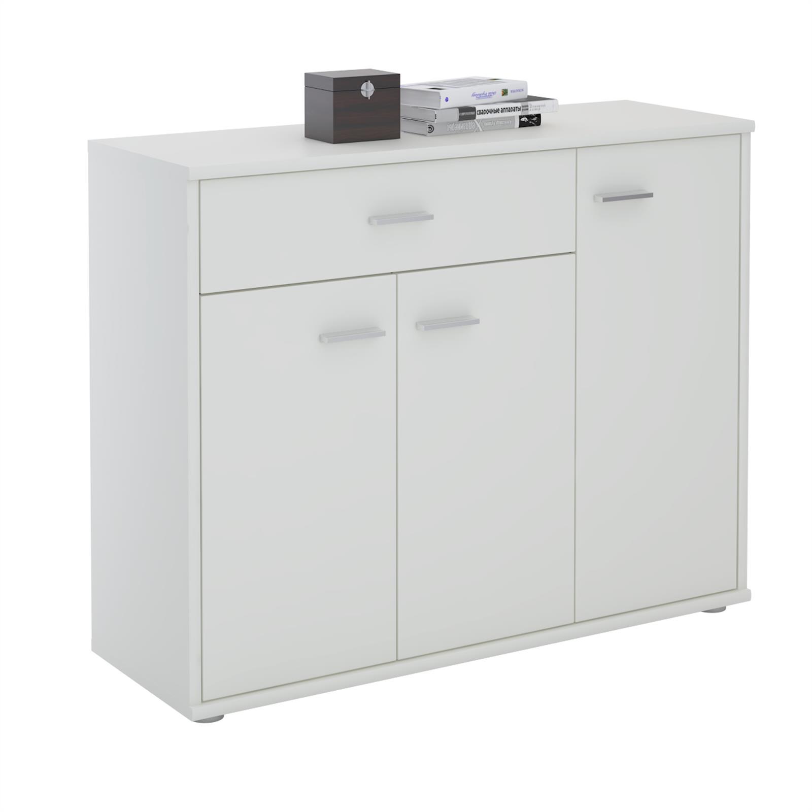 buffet coraline en m lamin blanc mat mobil meubles. Black Bedroom Furniture Sets. Home Design Ideas
