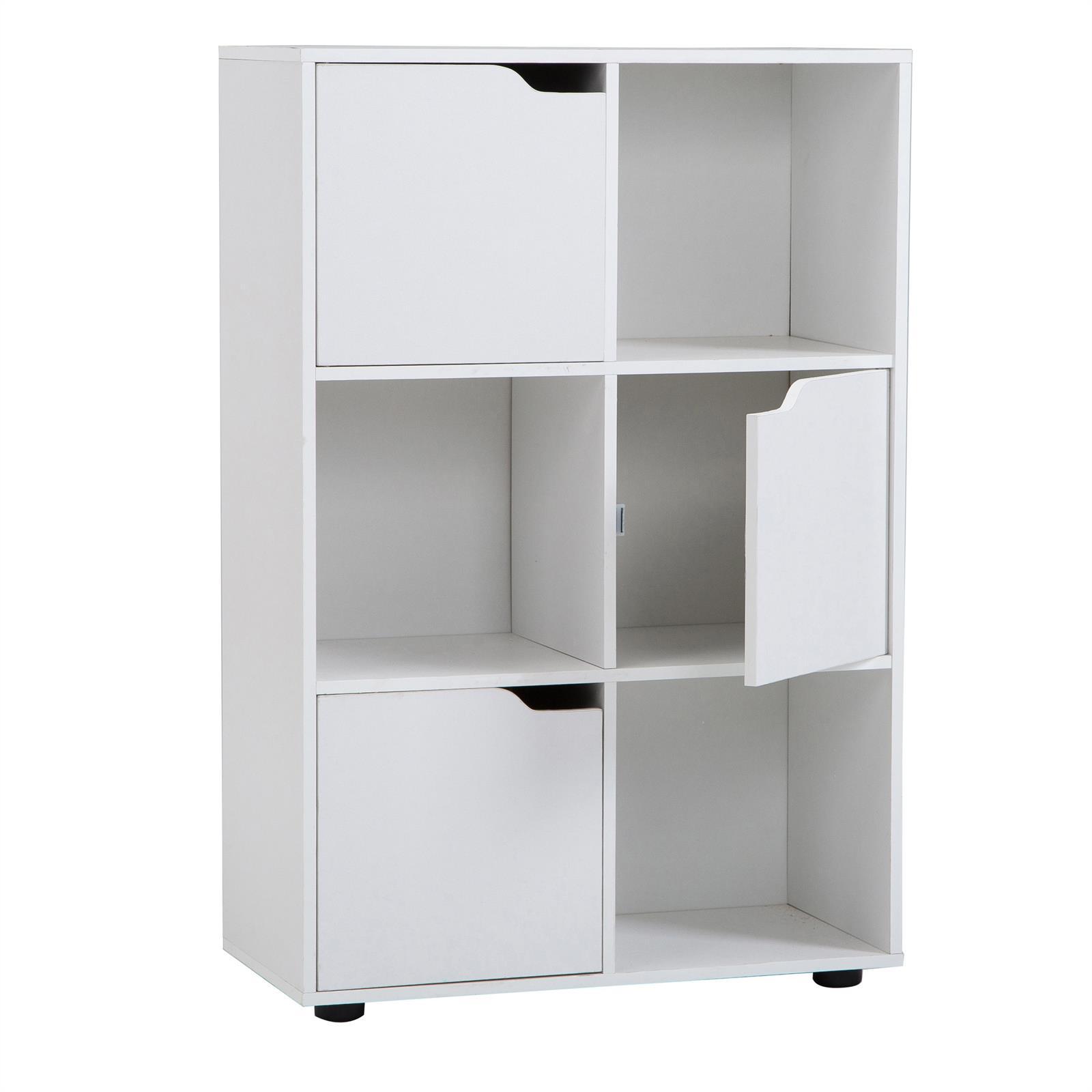 biblioth que vermont rangement 6 casiers blanc mat mobil meubles. Black Bedroom Furniture Sets. Home Design Ideas
