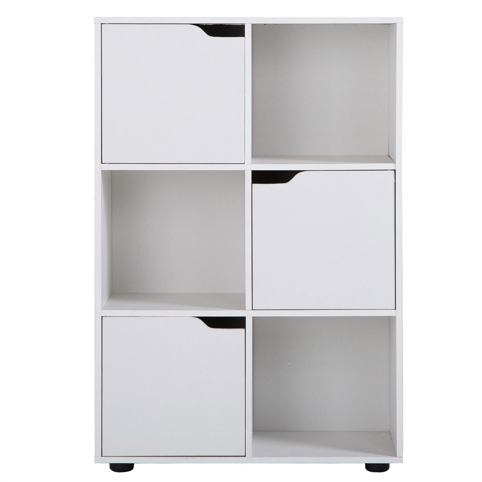 biblioth que vermont rangement 6 casiers blanc mat. Black Bedroom Furniture Sets. Home Design Ideas