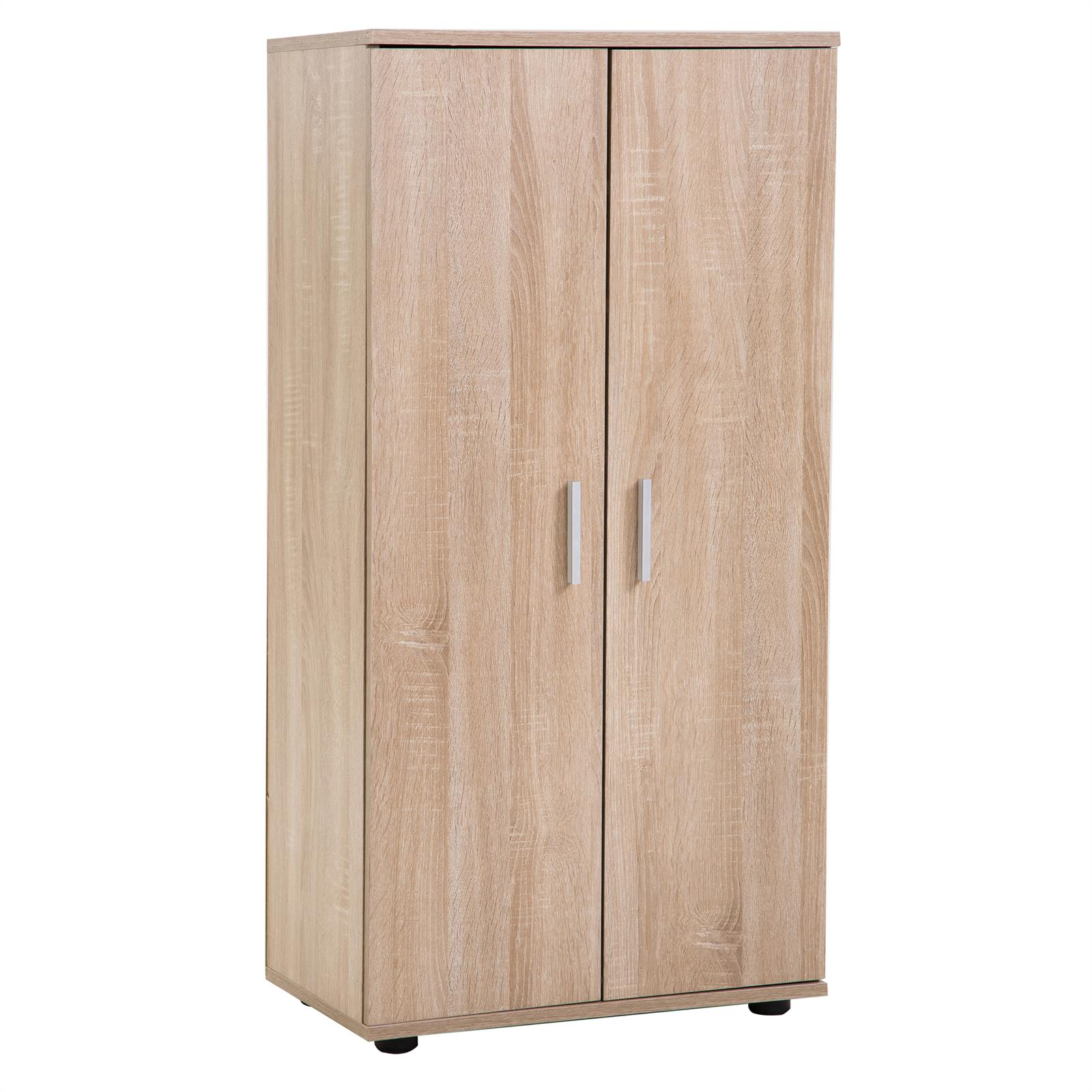 armoire meuble chaussures rangement 6 tag res 2 portes 2 coloris disponibles ebay. Black Bedroom Furniture Sets. Home Design Ideas