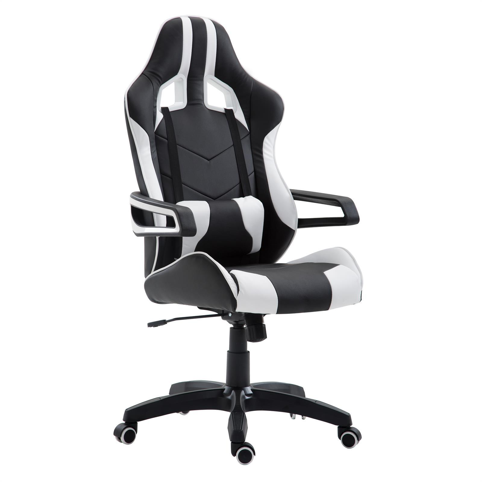 fauteuil de bureau gaming play noir et blanc mobil meubles. Black Bedroom Furniture Sets. Home Design Ideas