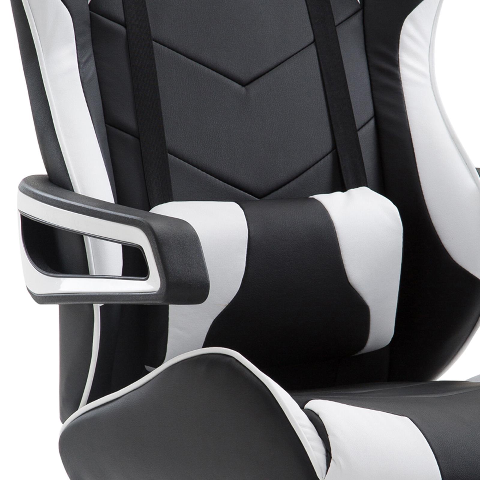 fauteuil de bureau gaming play noir et blanc mobil. Black Bedroom Furniture Sets. Home Design Ideas
