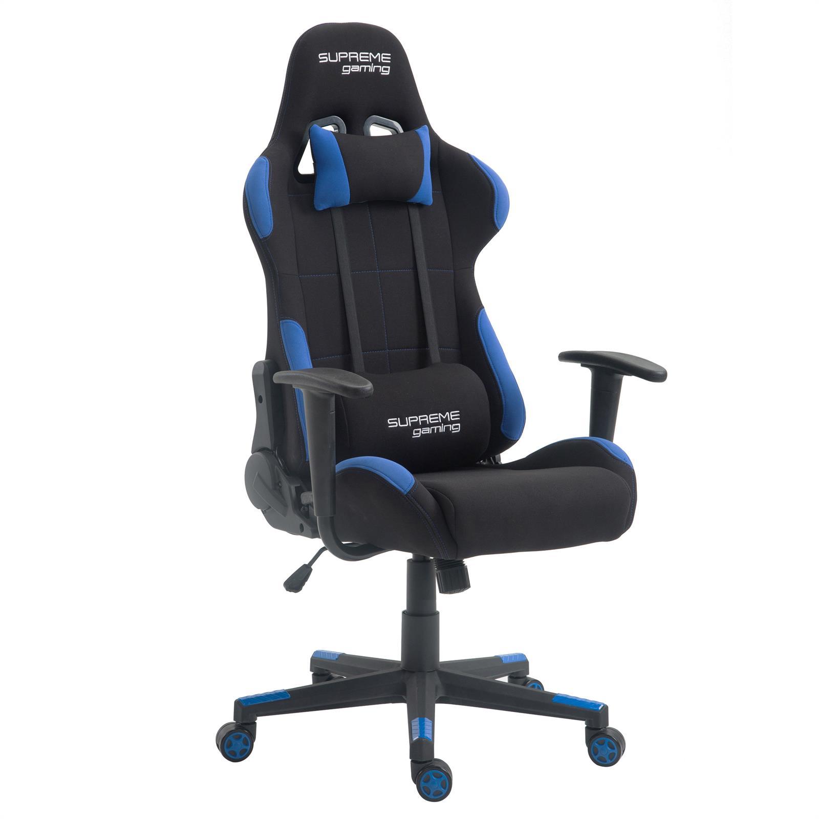 fauteuil de bureau gaming swift noir et bleu mobil meubles. Black Bedroom Furniture Sets. Home Design Ideas
