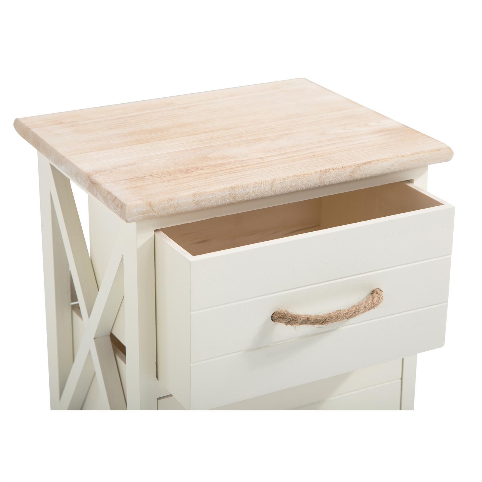 IDIMEX Table de Chevet Perugia Table de Nuit 2 tiroirs en