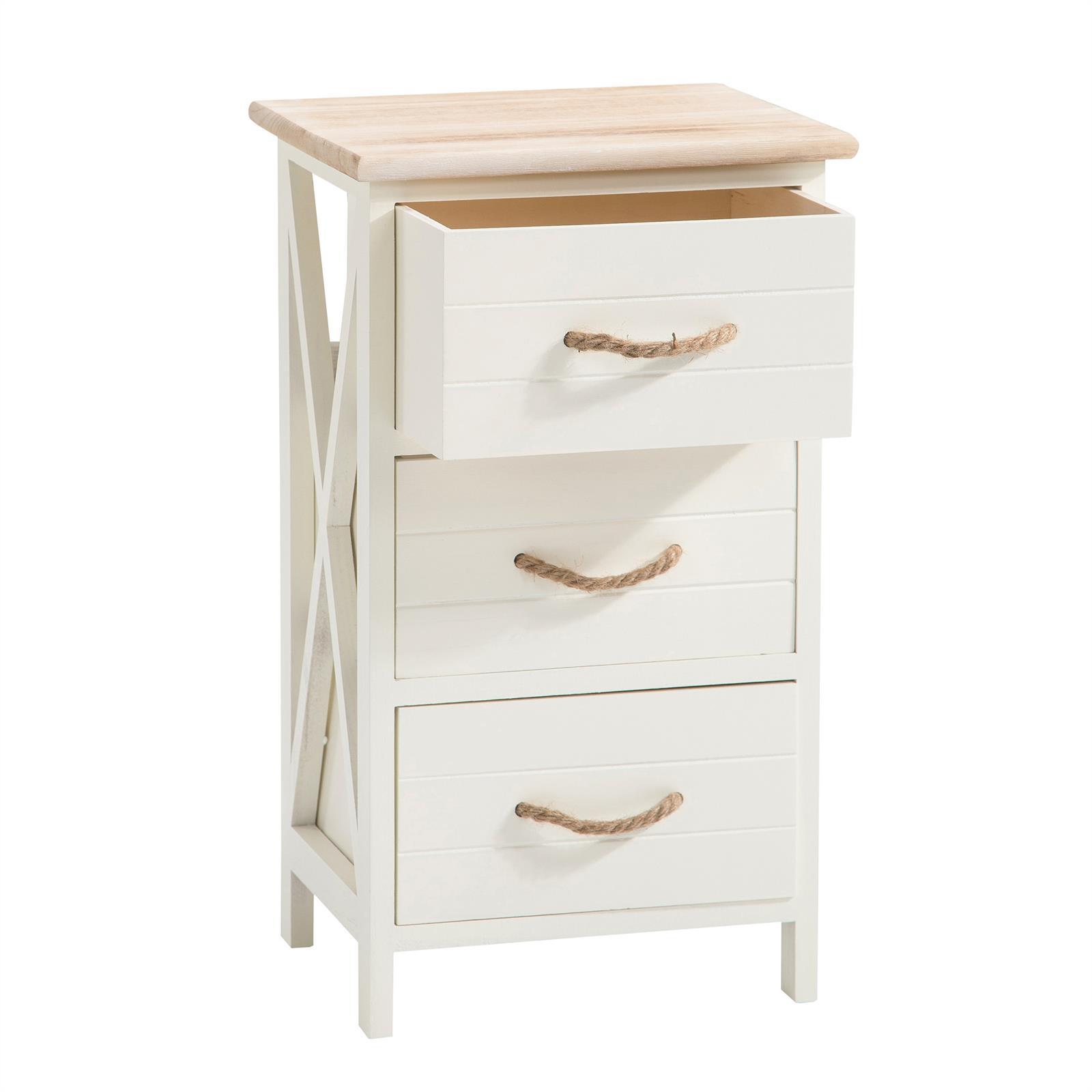 table de chevet perugia 3 tiroirs blanc mobil meubles. Black Bedroom Furniture Sets. Home Design Ideas